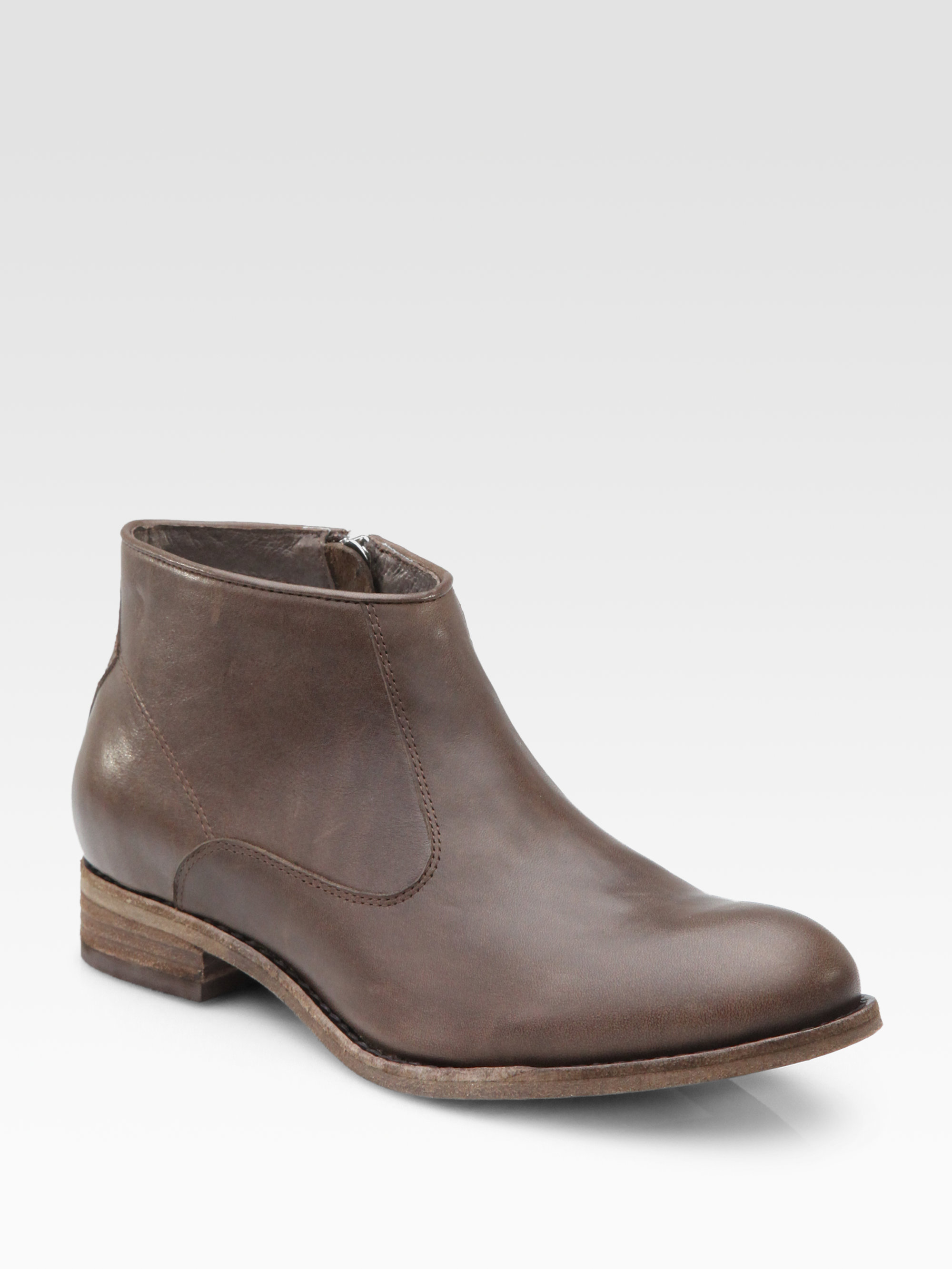 dolce vita elleta leather ankle boots in brown lyst