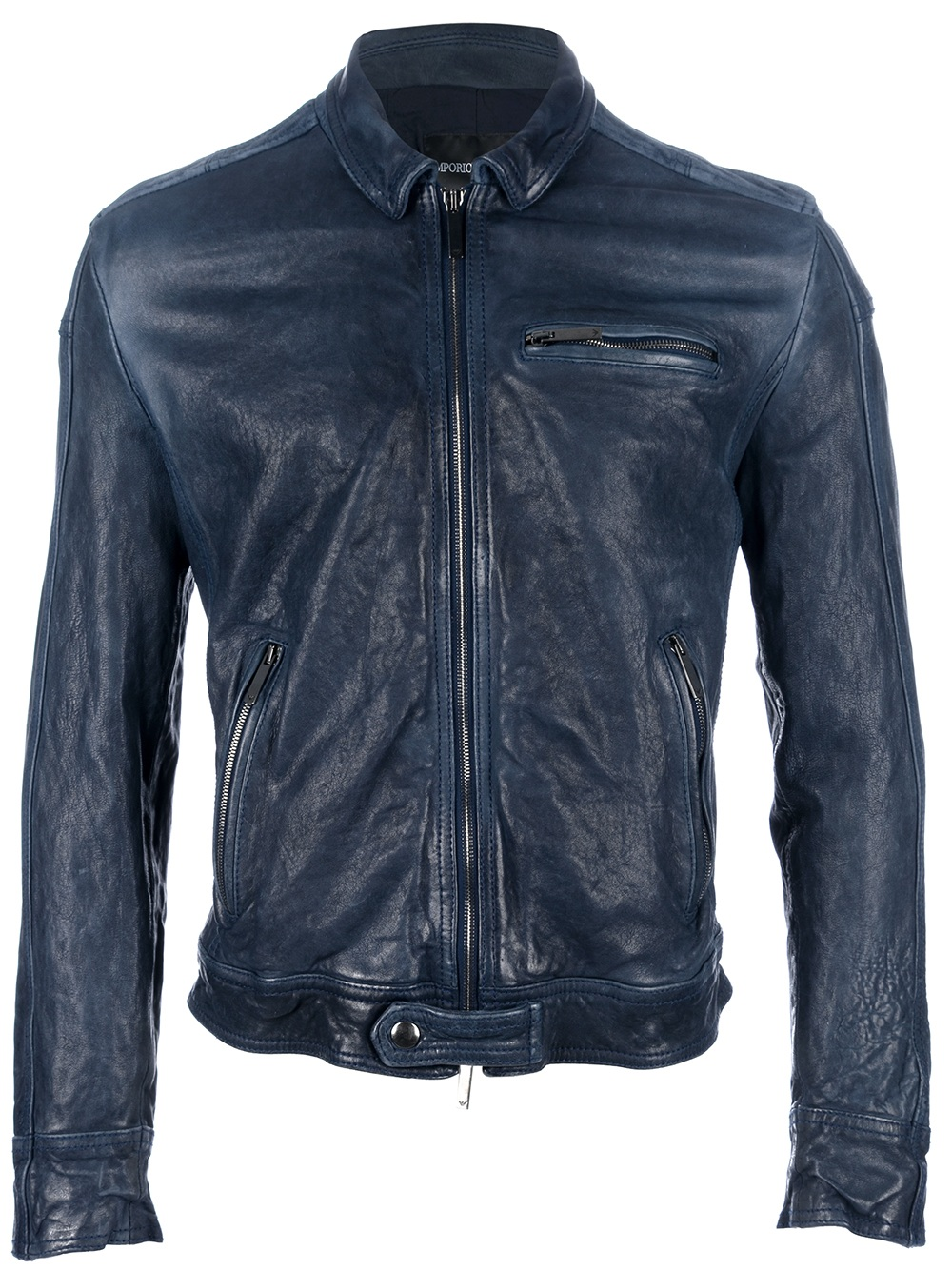 leather jacket emporio: