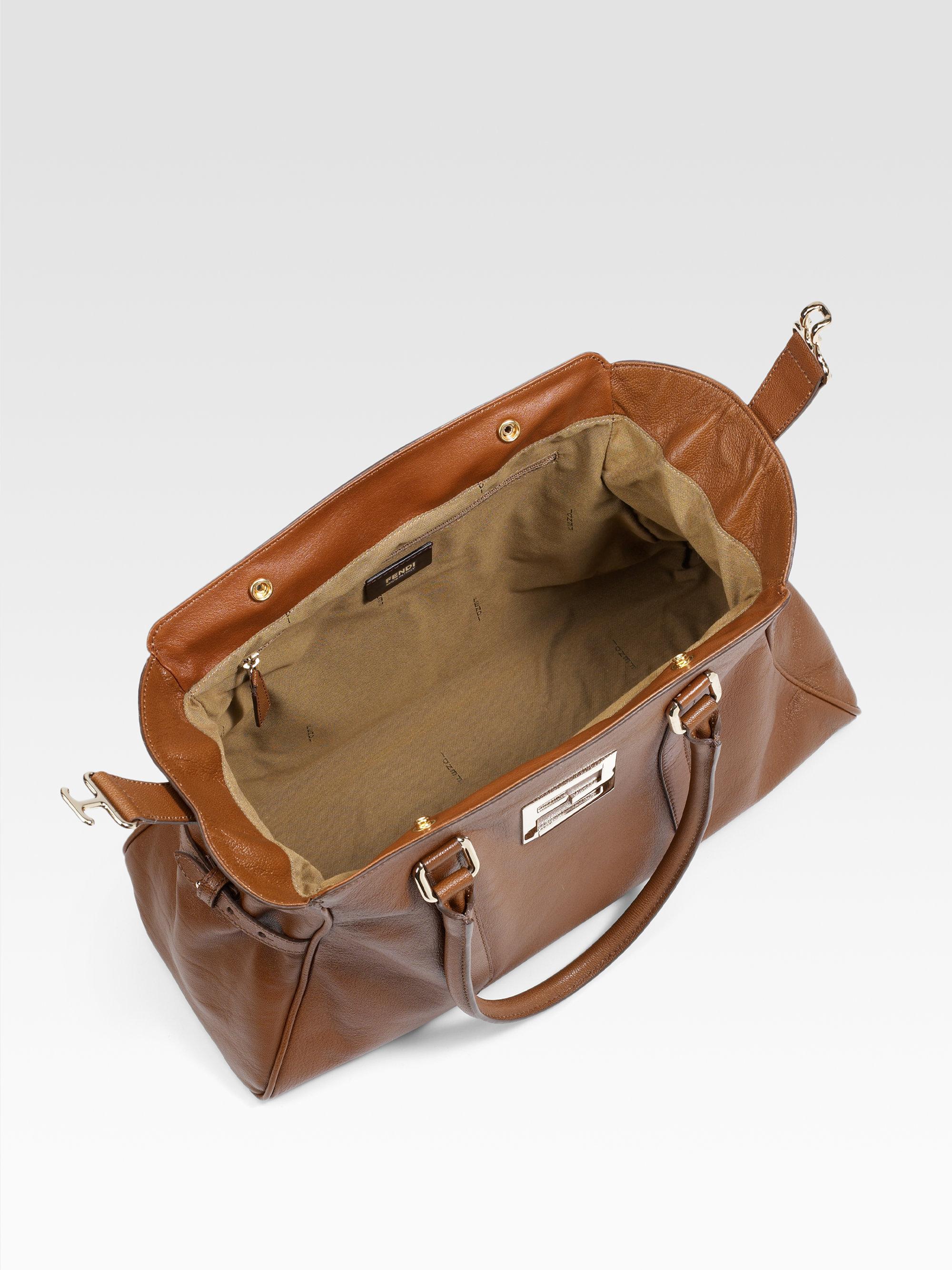 393308fe54 ... canada lyst fendi leather bag de jour tote in brown 543b8 258bd ...