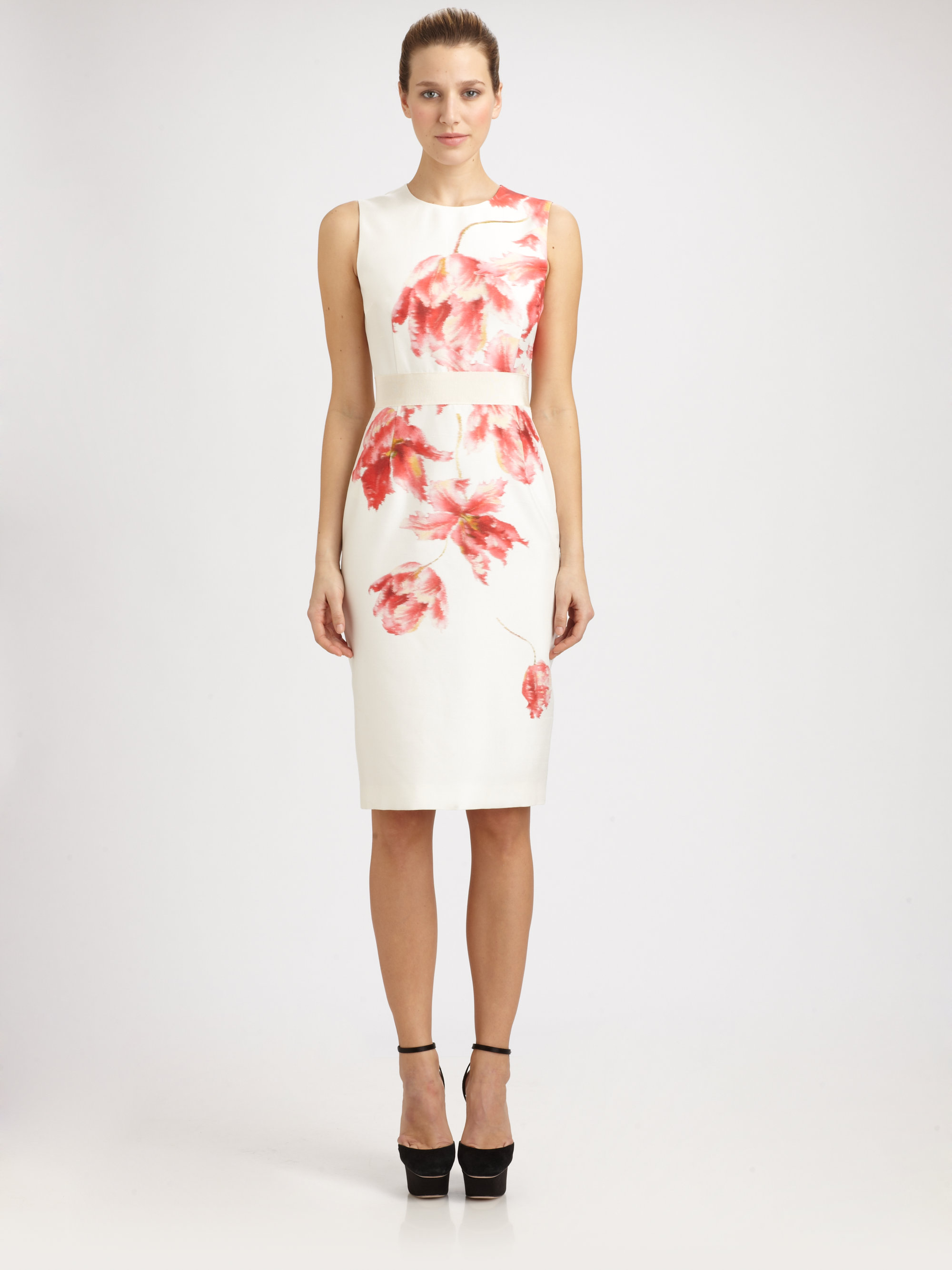 Lyst Giambattista Valli Silk Floral Dress