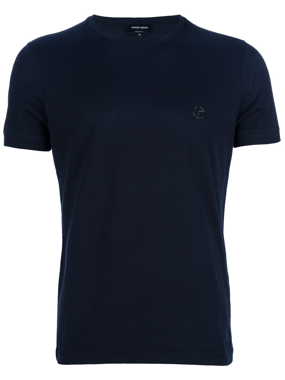 giorgio armani logo t shirt in blue for men navy lyst. Black Bedroom Furniture Sets. Home Design Ideas