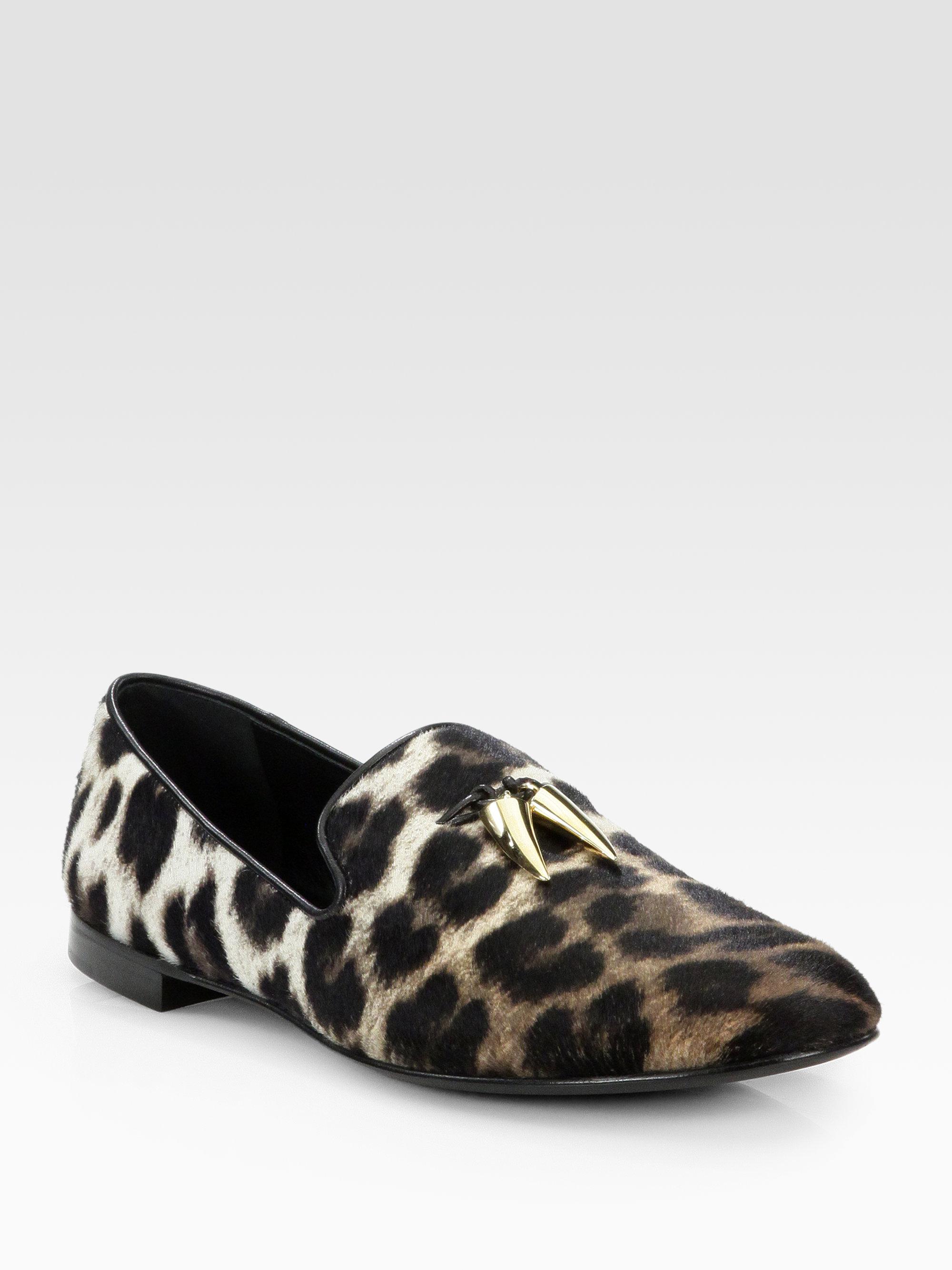 Giuseppe Zanotti Naomi Animal Smoking Slippers In Black Lyst