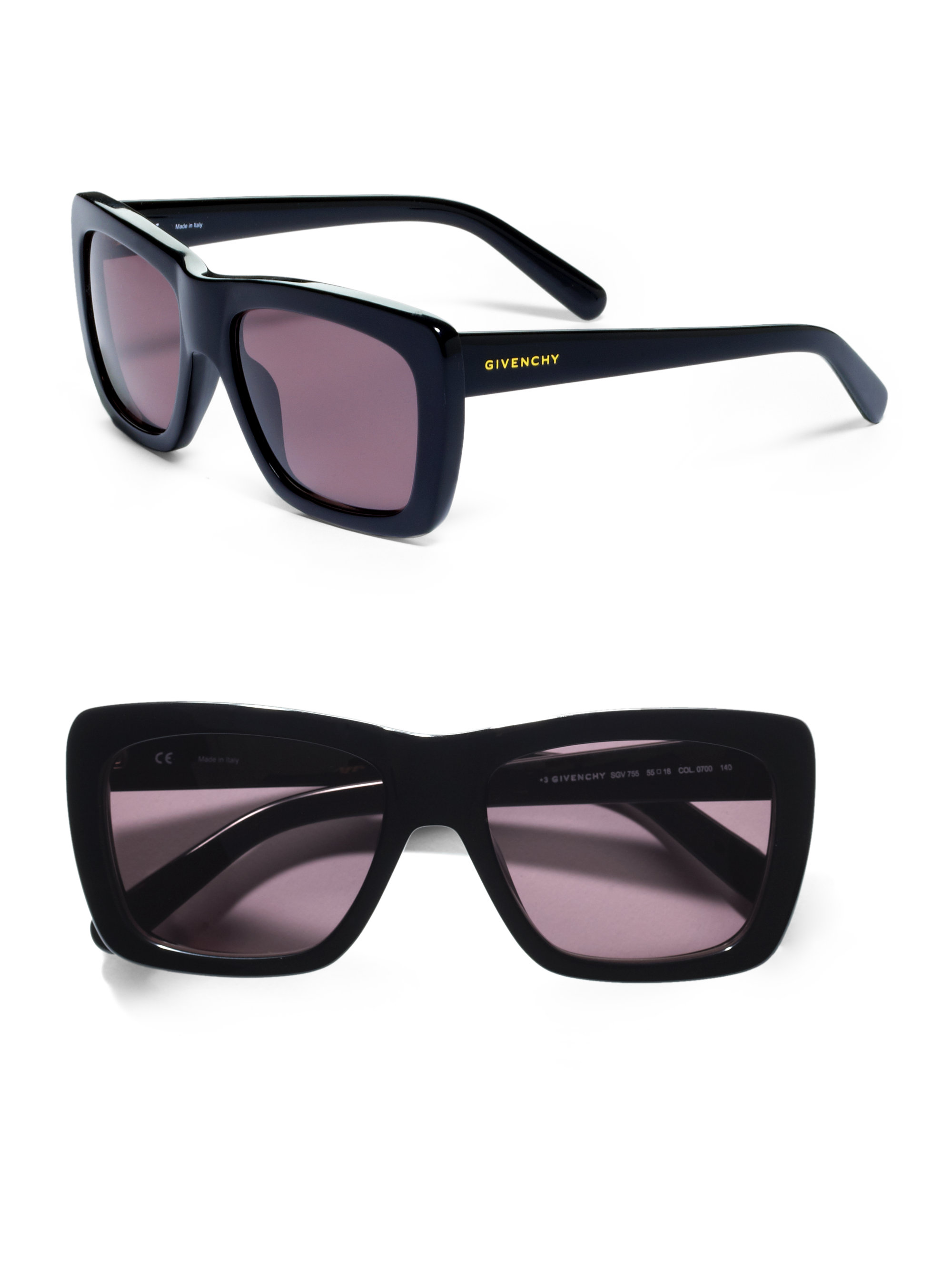 Oversized Wayfarer Sunglasses  givenchy oversized wayfarer sunglasses in black lyst