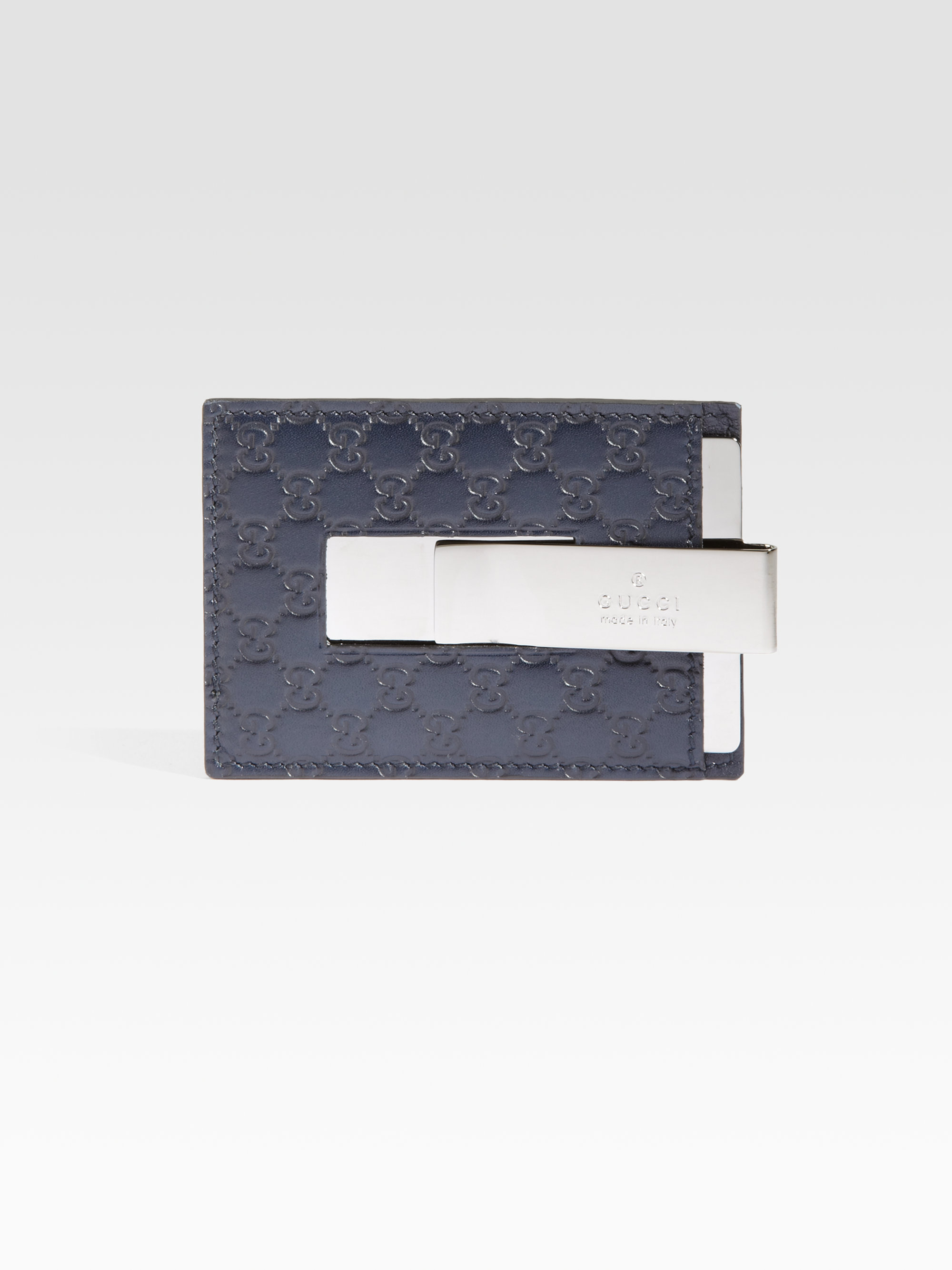 Gucci microguccisima card money clip wallet in blue for men lyst gallery magicingreecefo Images