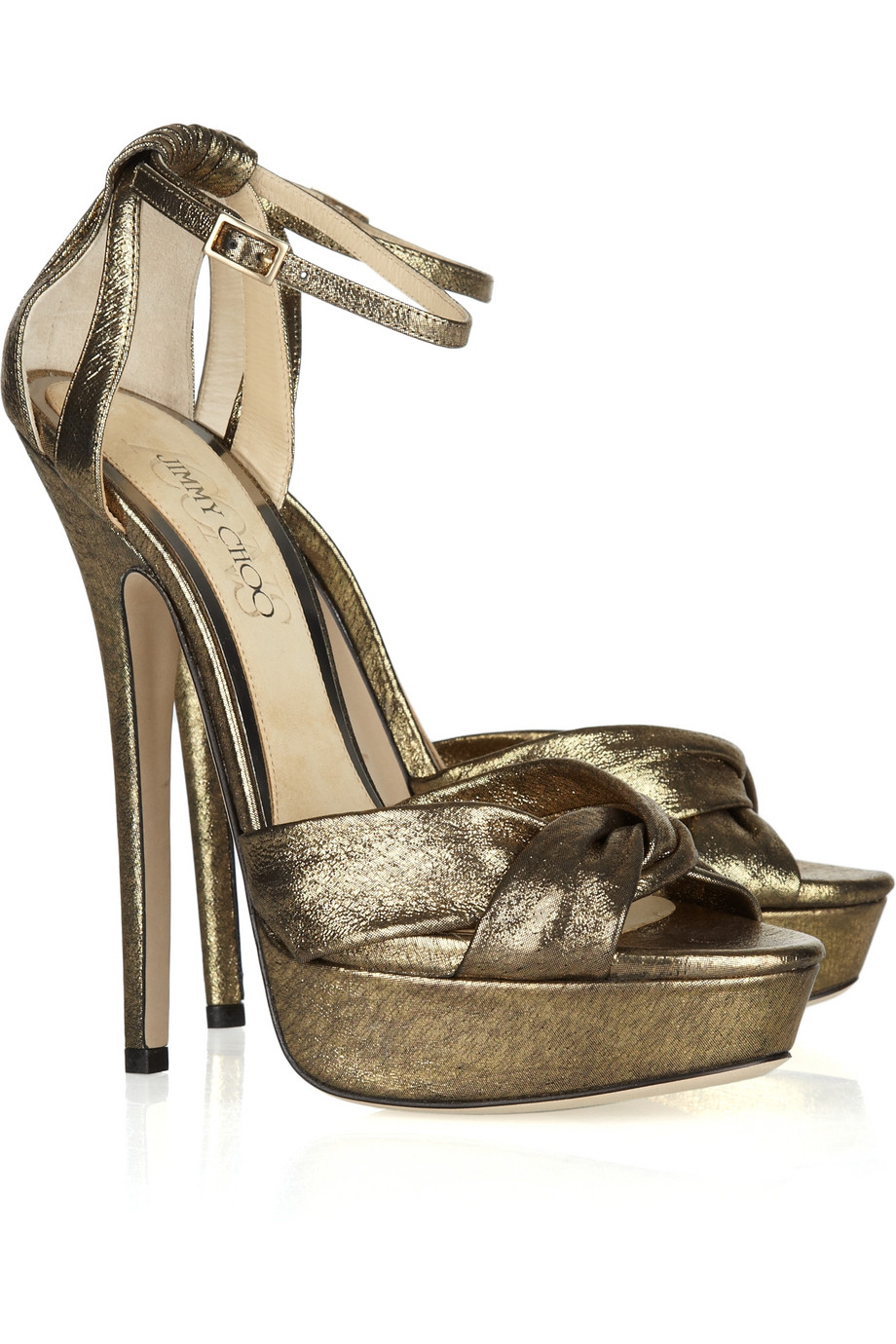 6a1b196a583 Jimmy Choo  Kaya  Sandals in Metallic - Lyst