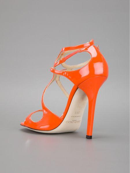 Jimmy Choo High Heel Sandal In Orange Lyst