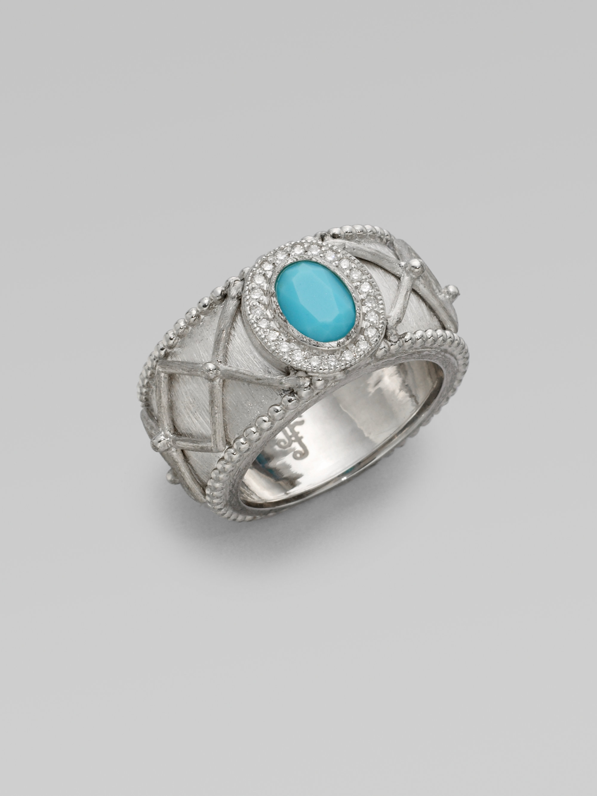 jude frances turquoise sterling silver ring in