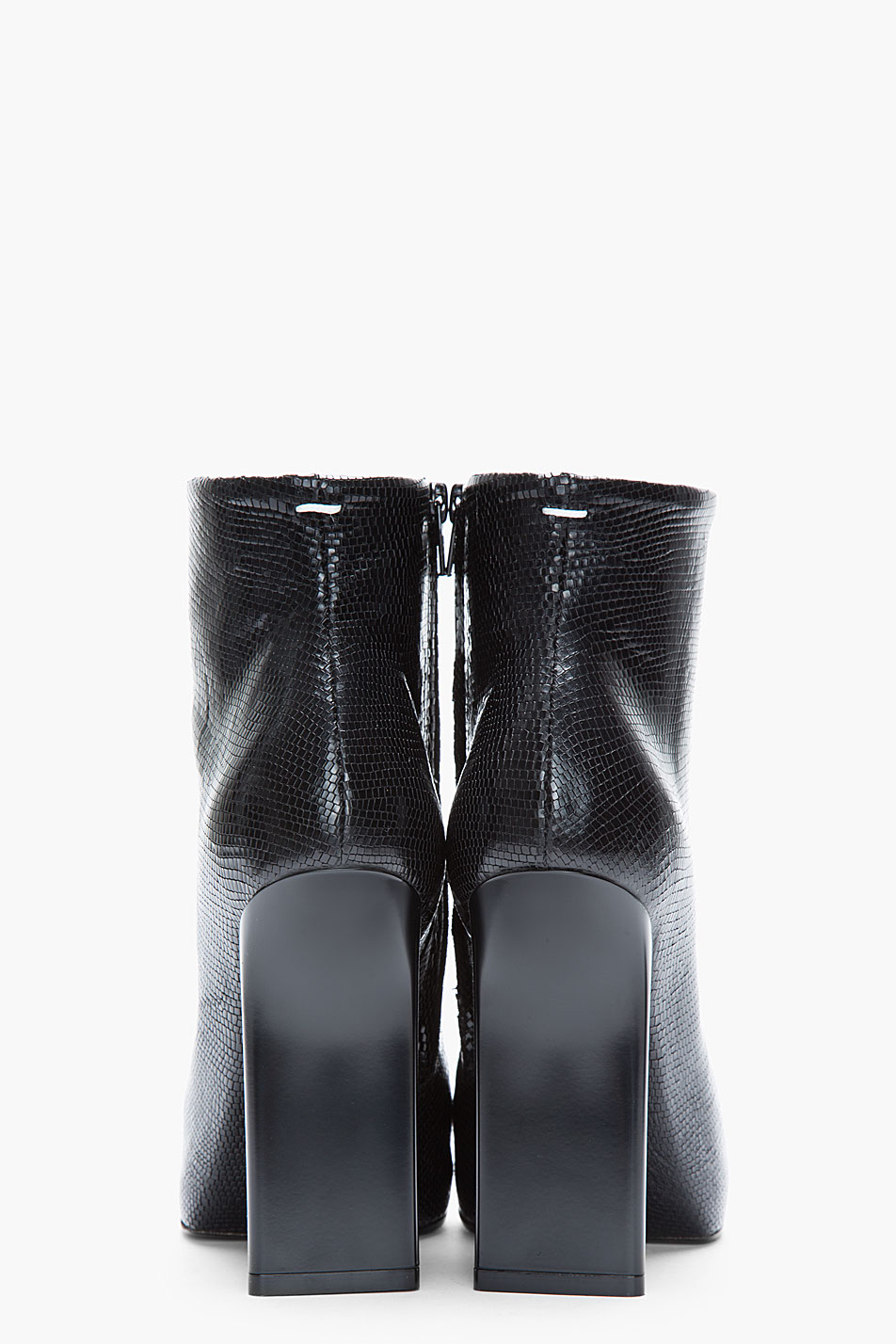 Maison Margiela Leather Ankle Boots In Black Lyst