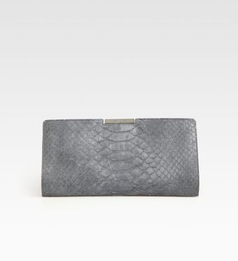 Milly Reece Python Embossed Leather Clutch - Lyst
