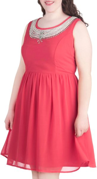 Modcloth Its All in The Details Dress in Coral Plus Size ...- photo #50