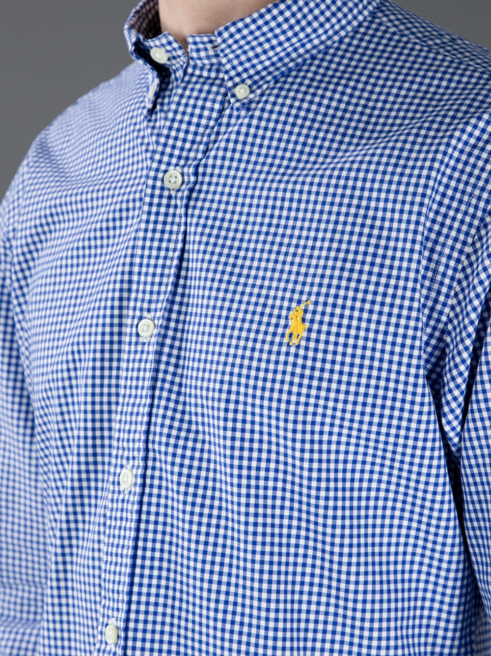 Lyst Polo Ralph Lauren Checked Long Sleeve Polo Shirt In