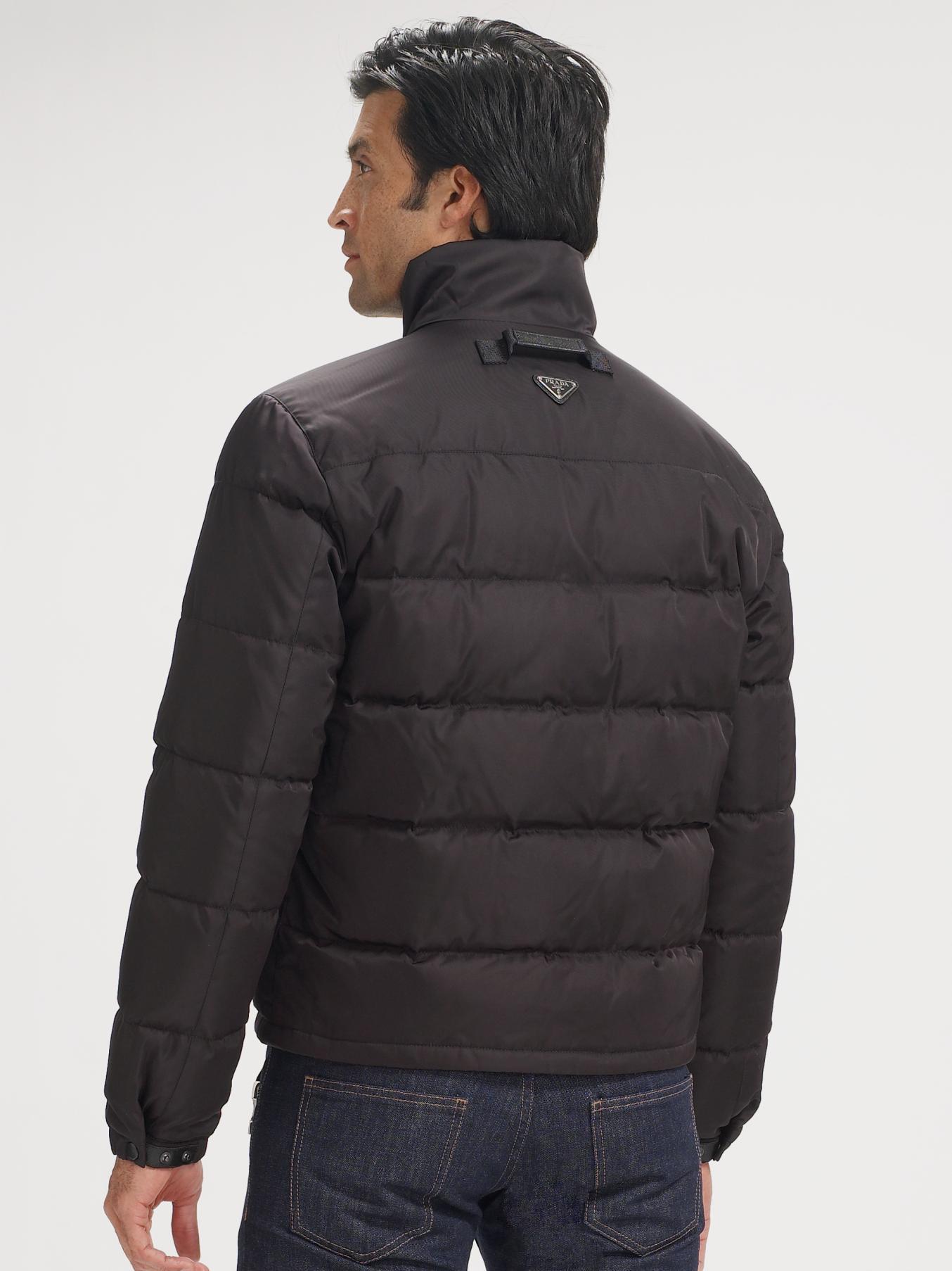 e8e63036c Prada Black Nylon Puffer Jacket for men