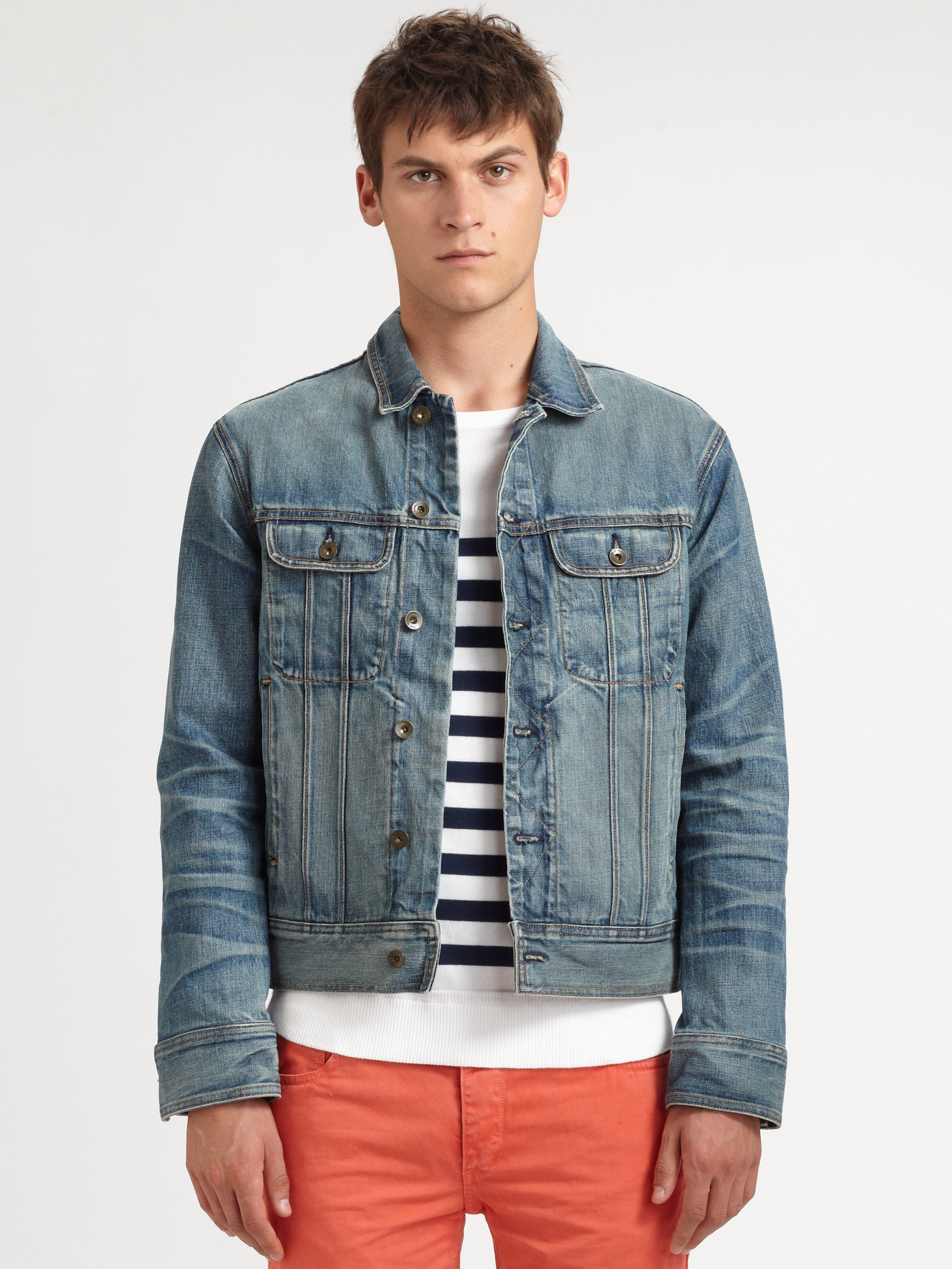 Rag & bone Perfect Denim Jacket in Blue for Men | Lyst