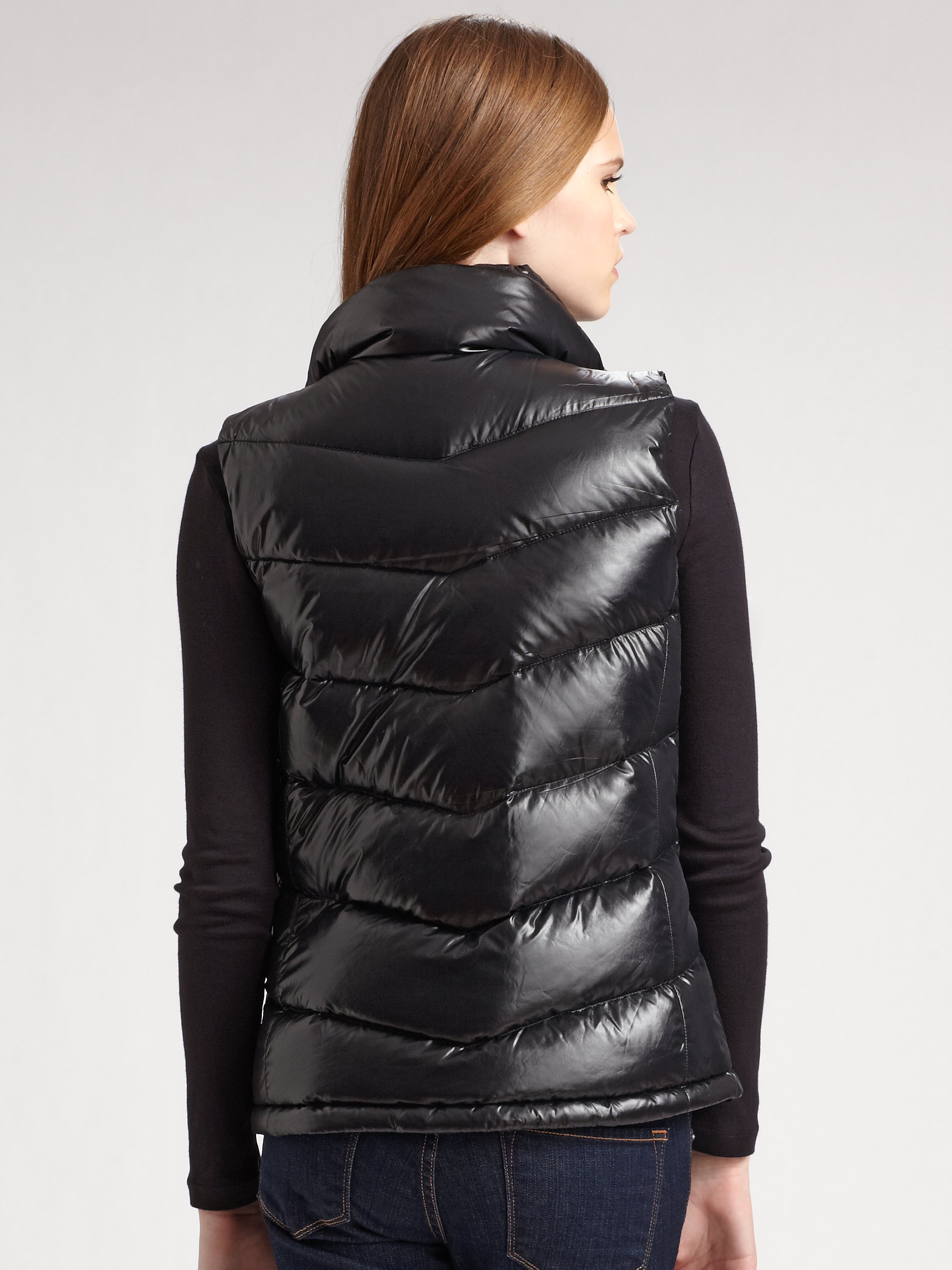 Lyst The North Face Quilted Puffer Vest In Black