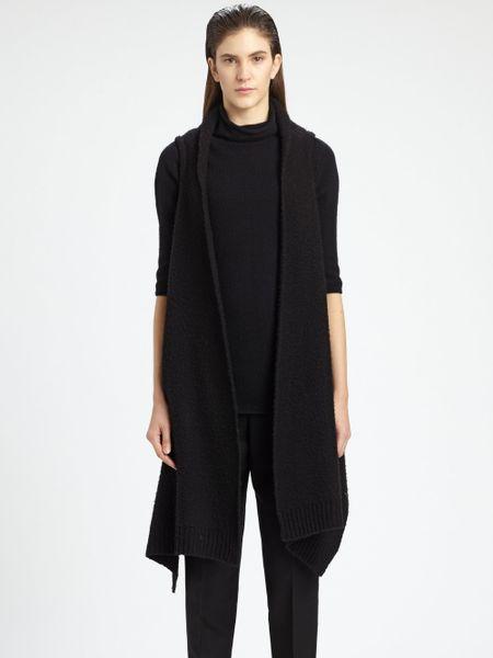 The Row Calliope Draped Merino Wool Cashmereblend Vest in Black - Lyst