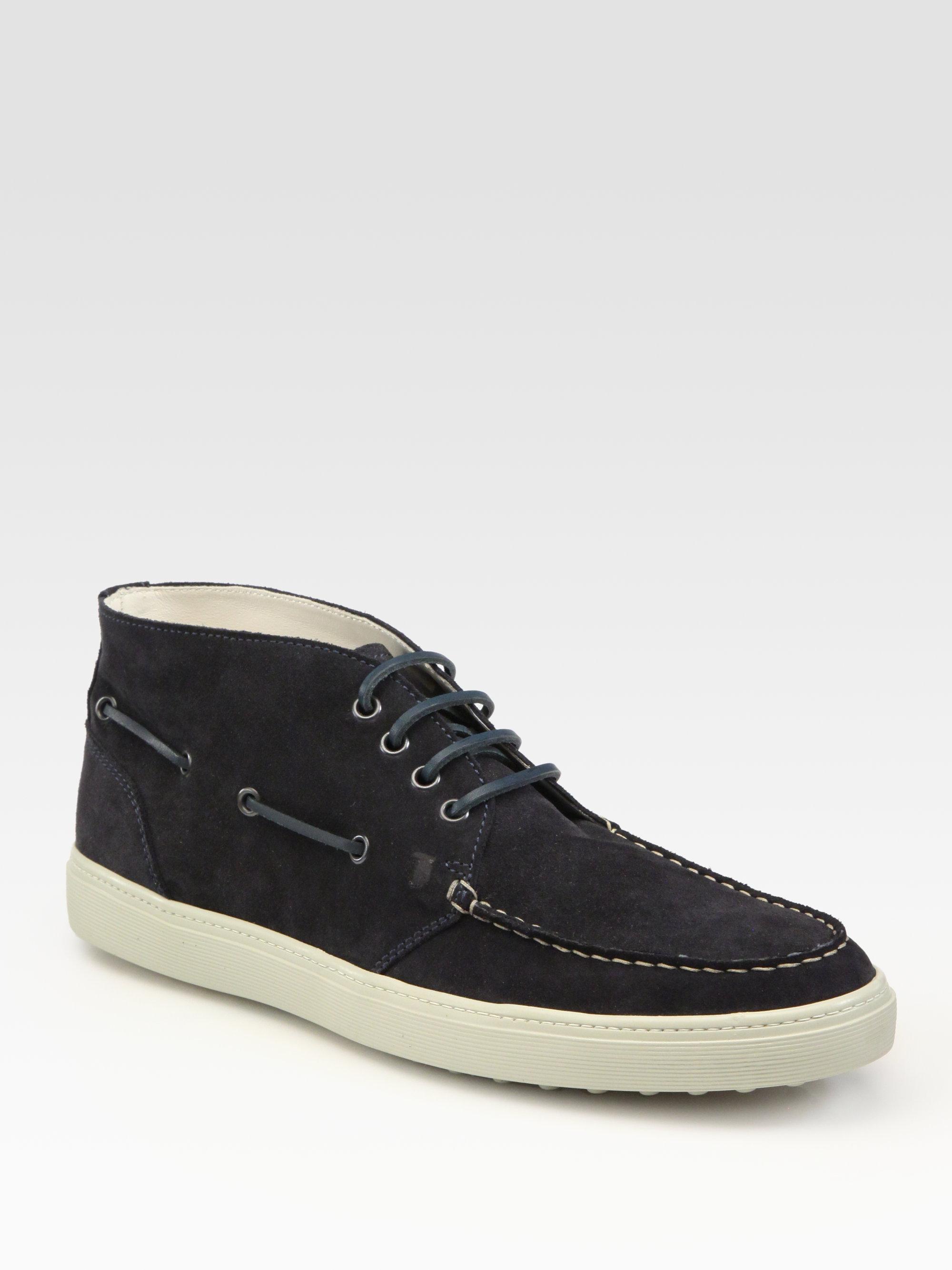 tod 39 s sport cassetta desert boot in black for men blue lyst. Black Bedroom Furniture Sets. Home Design Ideas