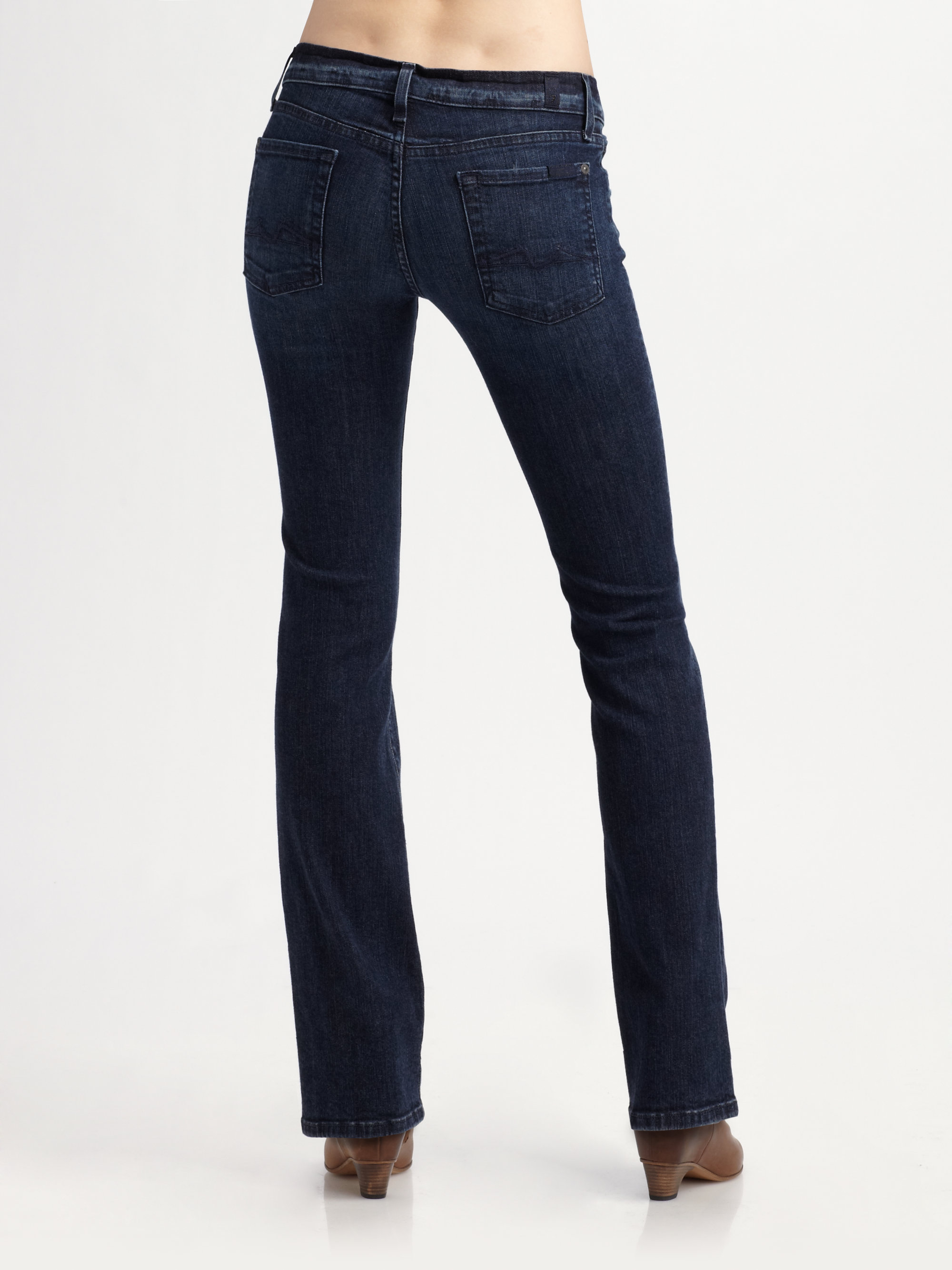 for all mankind lexie petite bootcut jeans in blue lyst. Black Bedroom Furniture Sets. Home Design Ideas
