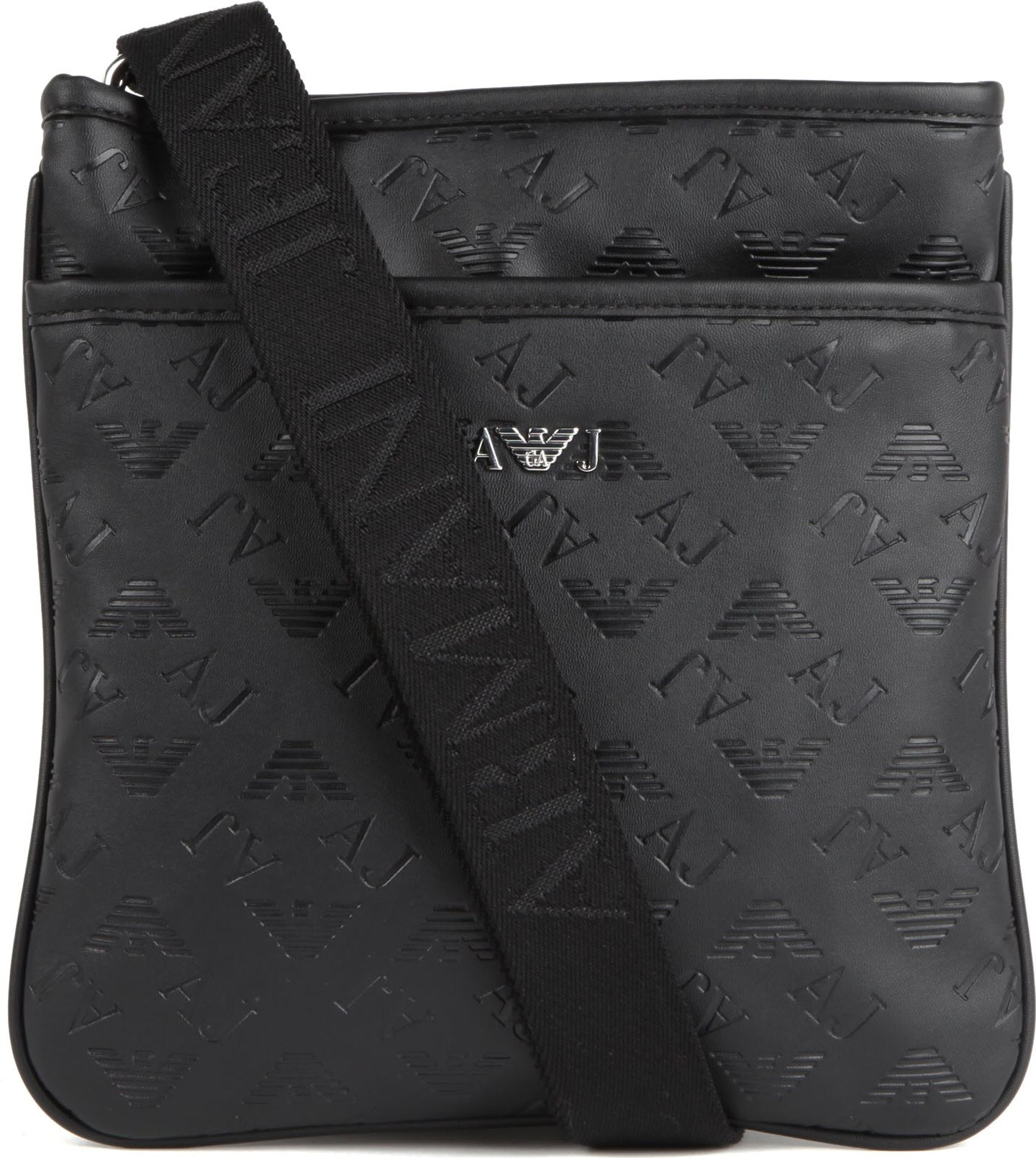 ccbb17be68 Armani Jeans Fauxleather Messenger Bag in Black for Men - Lyst