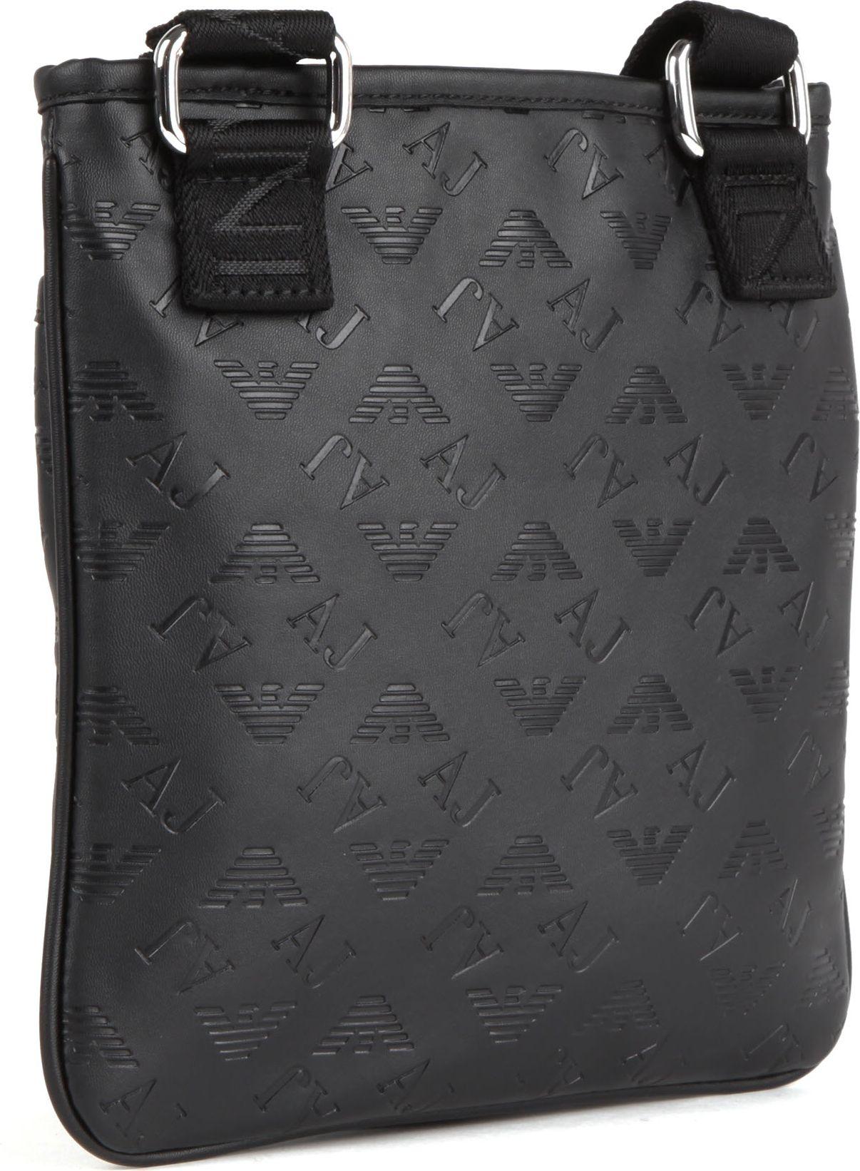 Armani Jeans Fauxleather Messenger Bag in Black for Men - Lyst 02a4835059