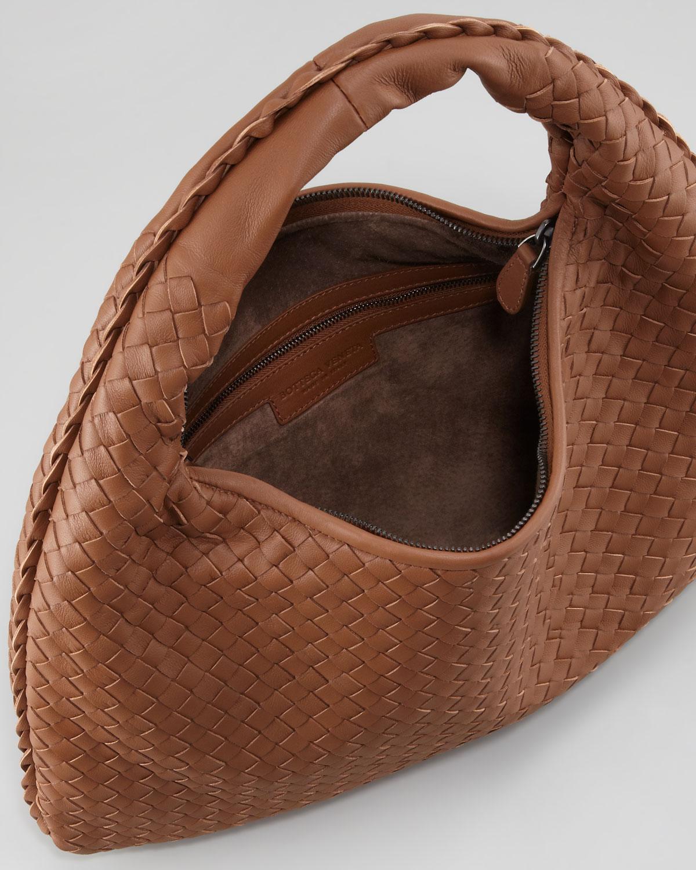 469b82b964b6 Lyst - Bottega Veneta Medium Veneta Hobo Bag Light Brown in Brown