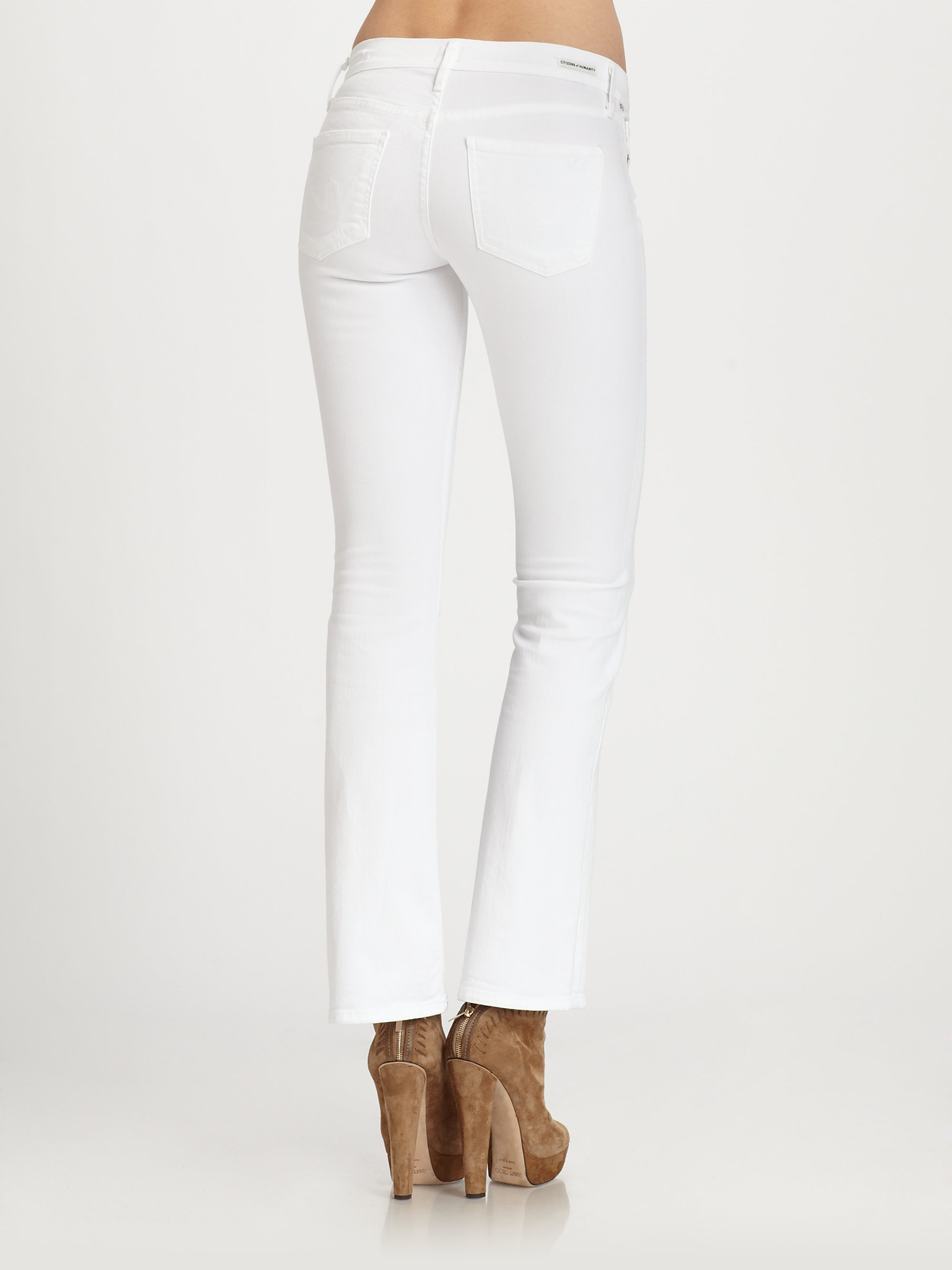 97c264939b6 Citizens of Humanity Dita Petite Bootcut Jeans in White - Lyst