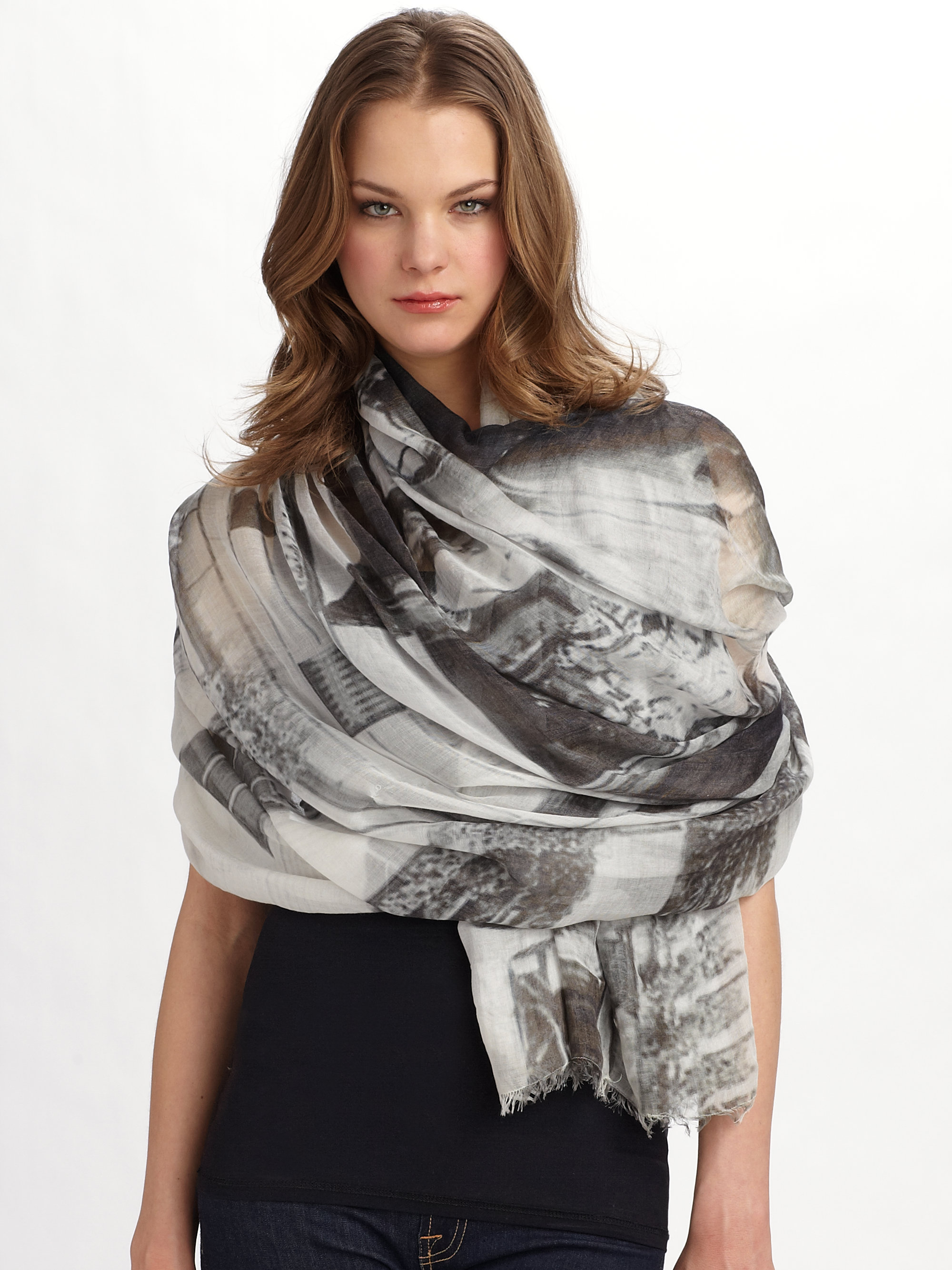 fullscreen multi lyst view floral colour scarf accessories print cashmere camouflage wash ferrari wool evans franco