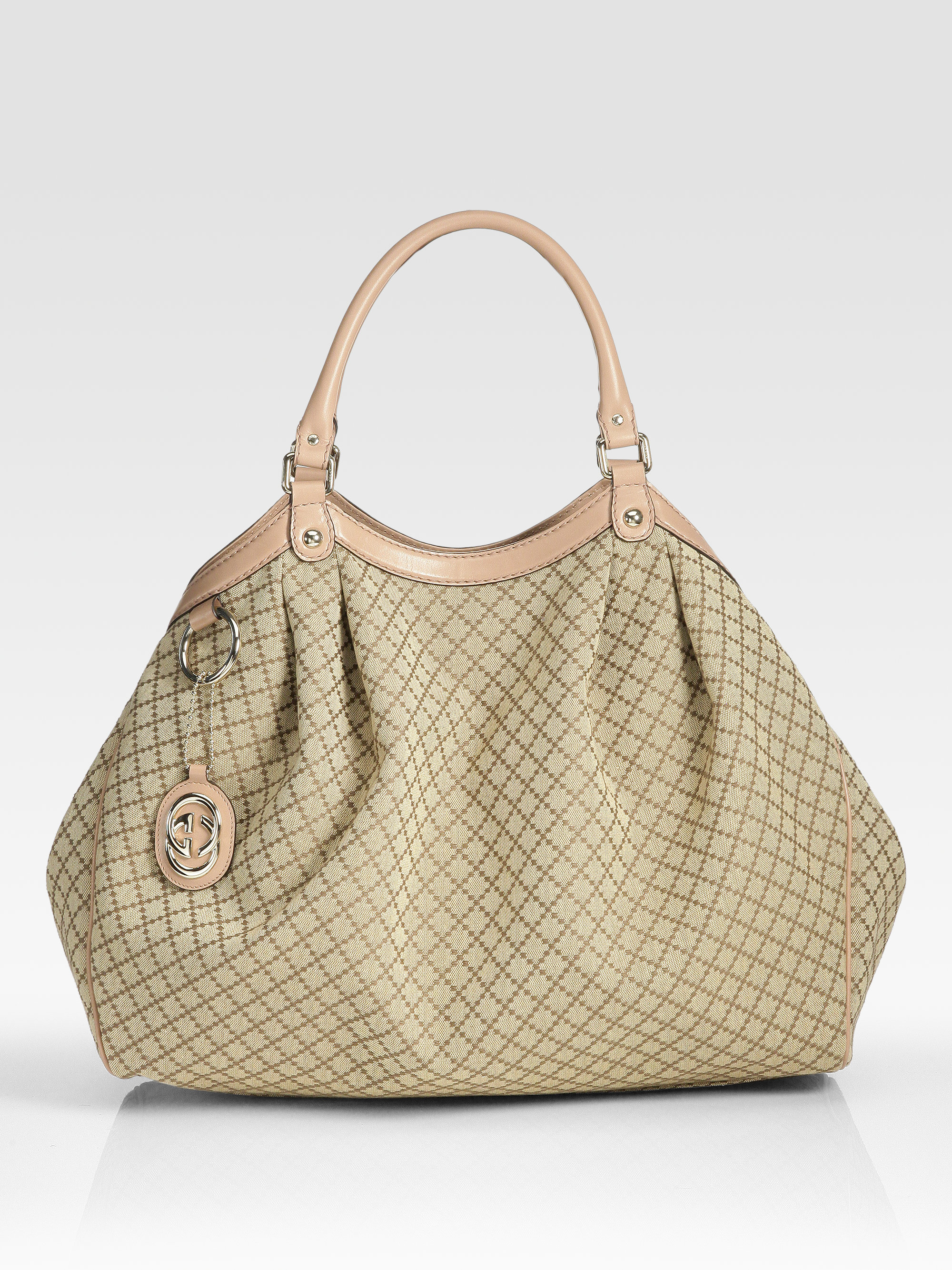 Gucci Sukey Large Tote Bag In Beige Lyst