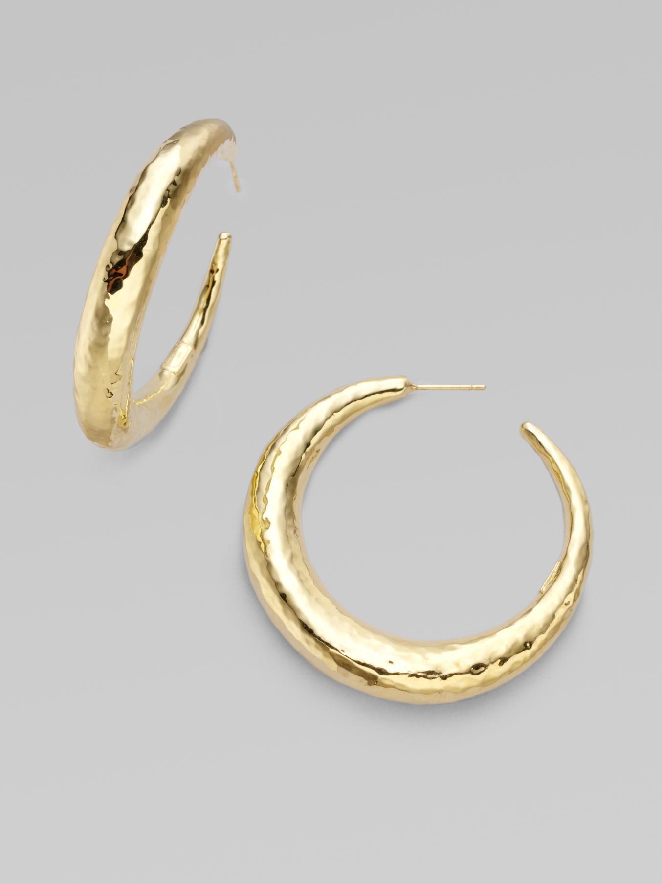 Chunky Gold Hoop Earrings Uk Image Of Earring