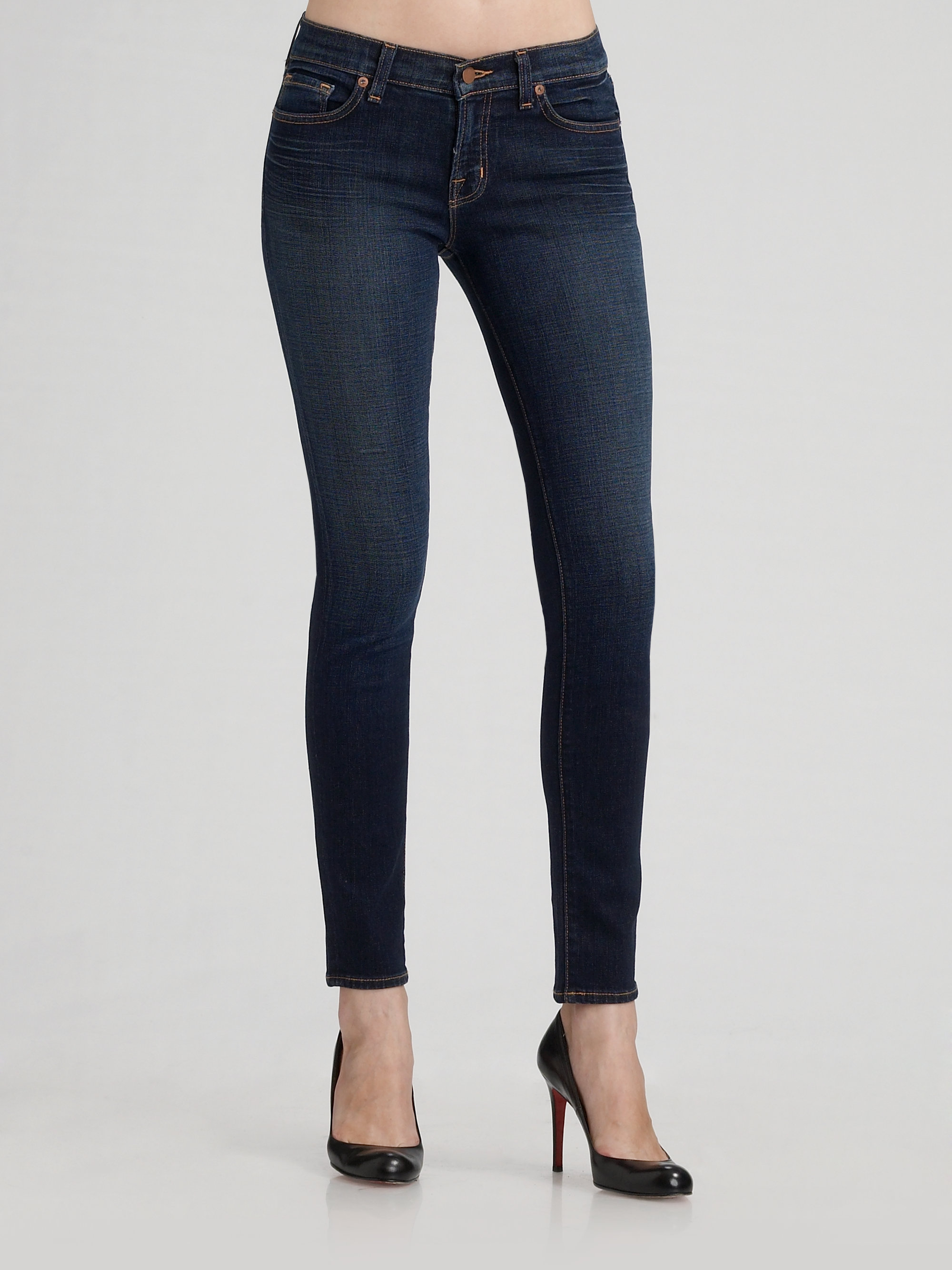J brand 910 10 Low Rise Skinny Jeans in Blue  Lyst