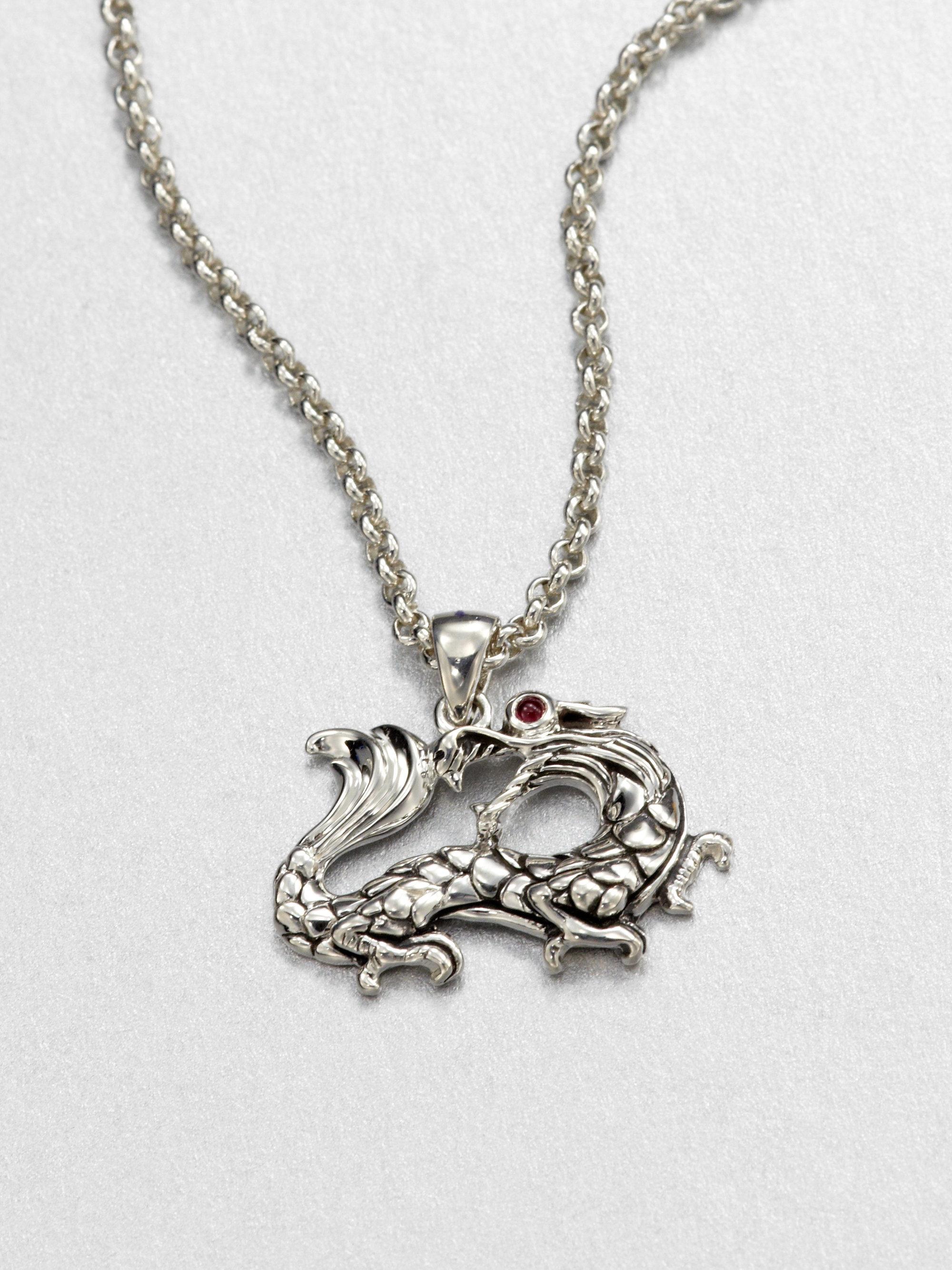 John Hardy Naga Ruby Amp Sterling Silver Dragon Pendant