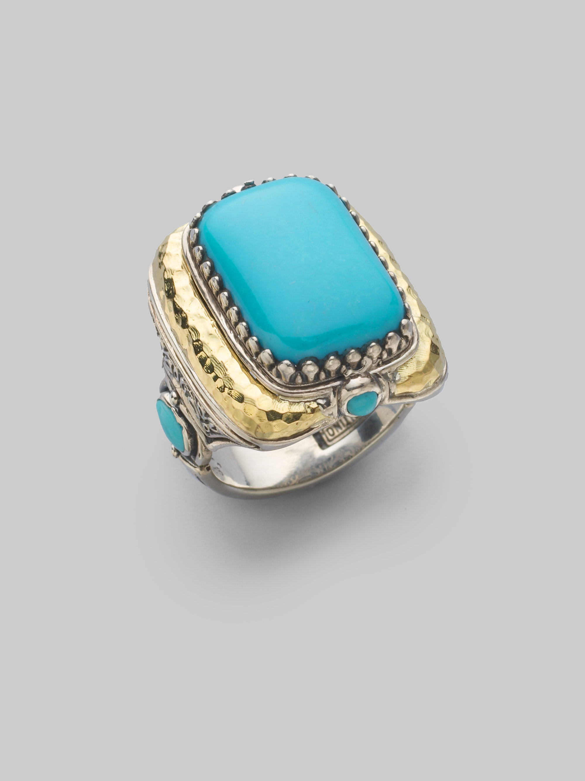 Konstantino Turquoise 18k Yellow Gold Sterling Silver