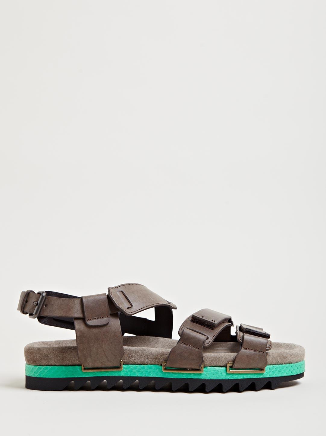 Lyst Lanvin Mens Three Strap Sandals In Gray For Men