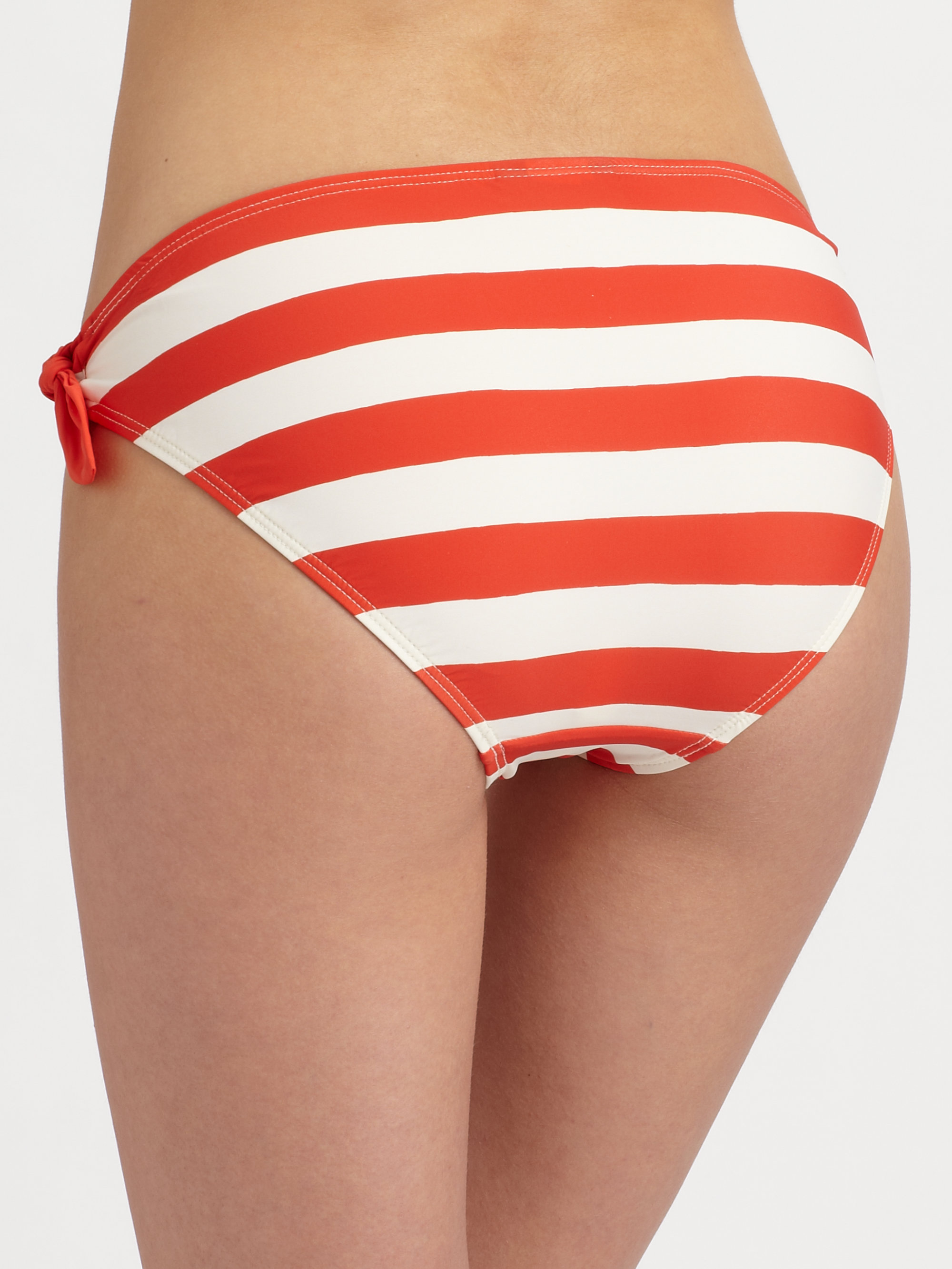red striped bikini marc by marc jacobs bella striped bikini bottom in red lyst 1757