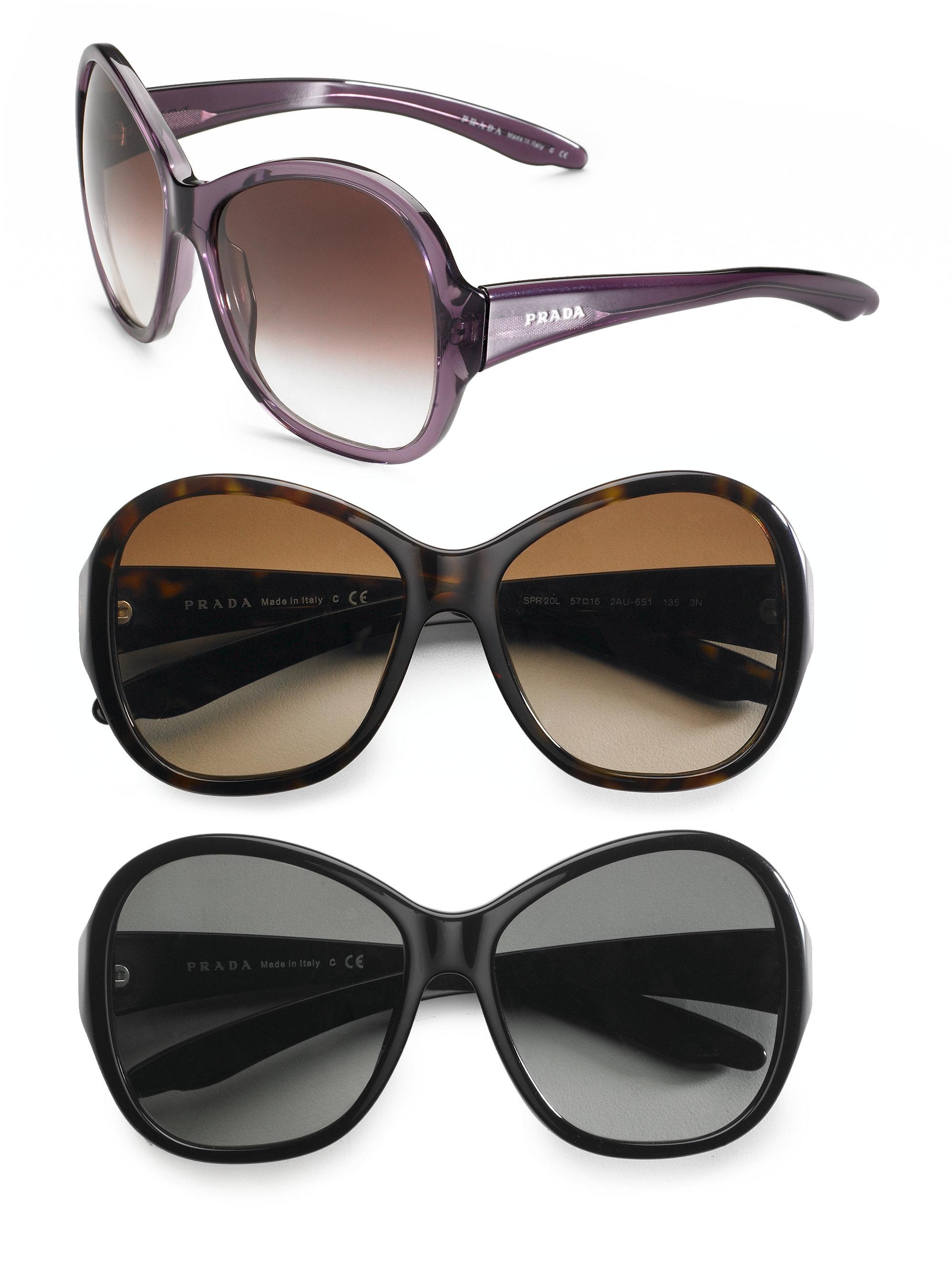 5da9dd40de59f Prada Womens Large Sunglasses Black
