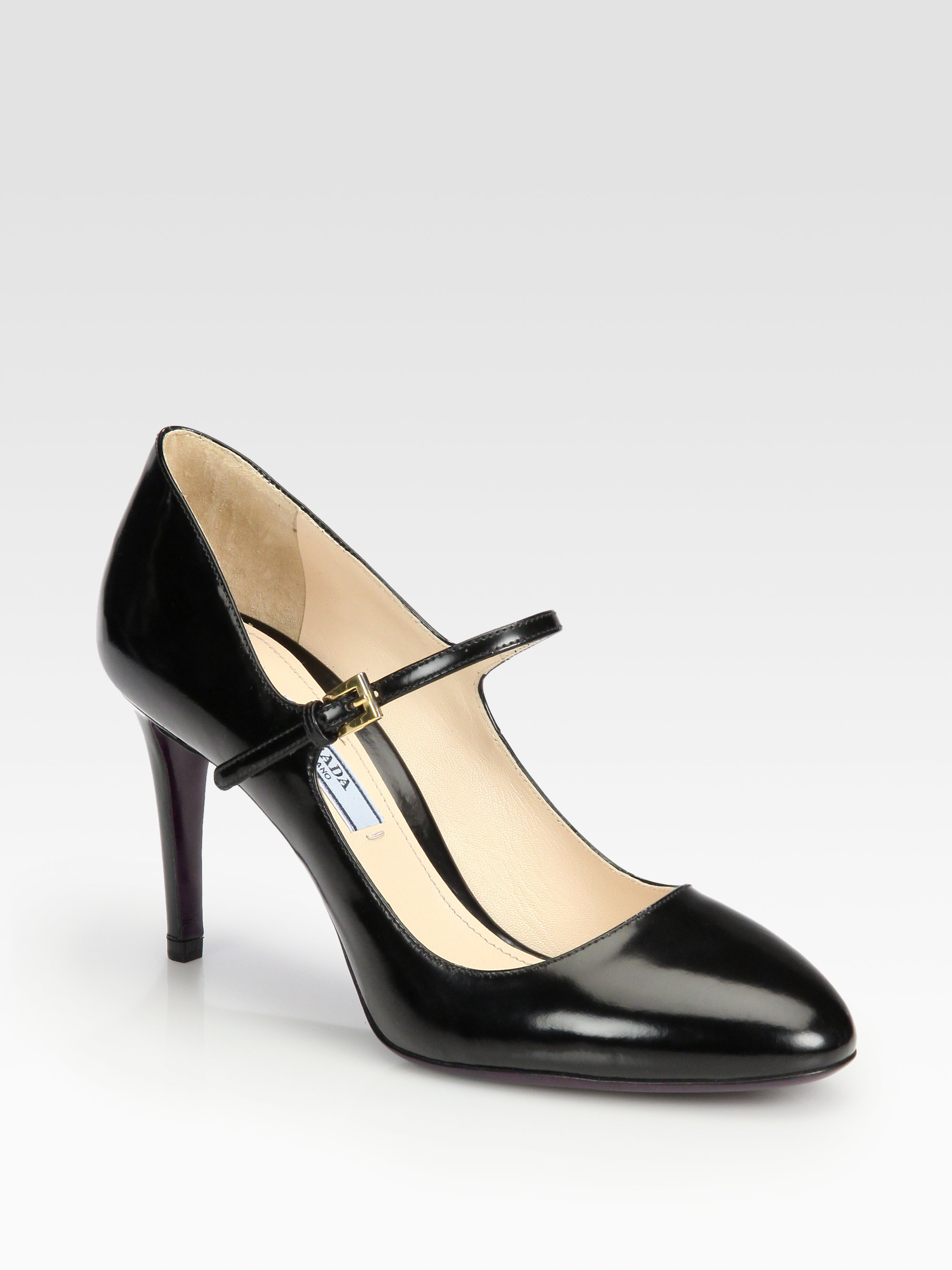 Prada Pompes Mary Jane Broche - Noir zC2mb