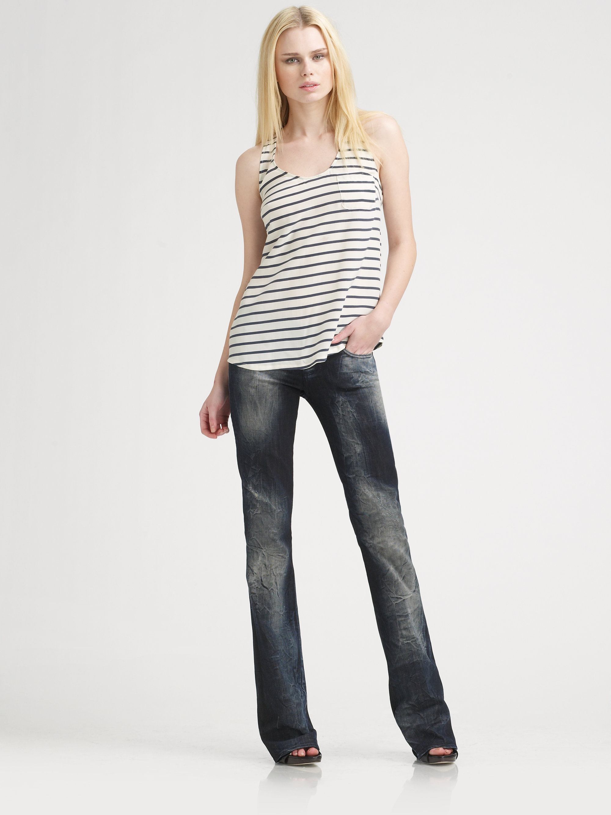 rock republic kassandra bootcut jeans in black lyst. Black Bedroom Furniture Sets. Home Design Ideas