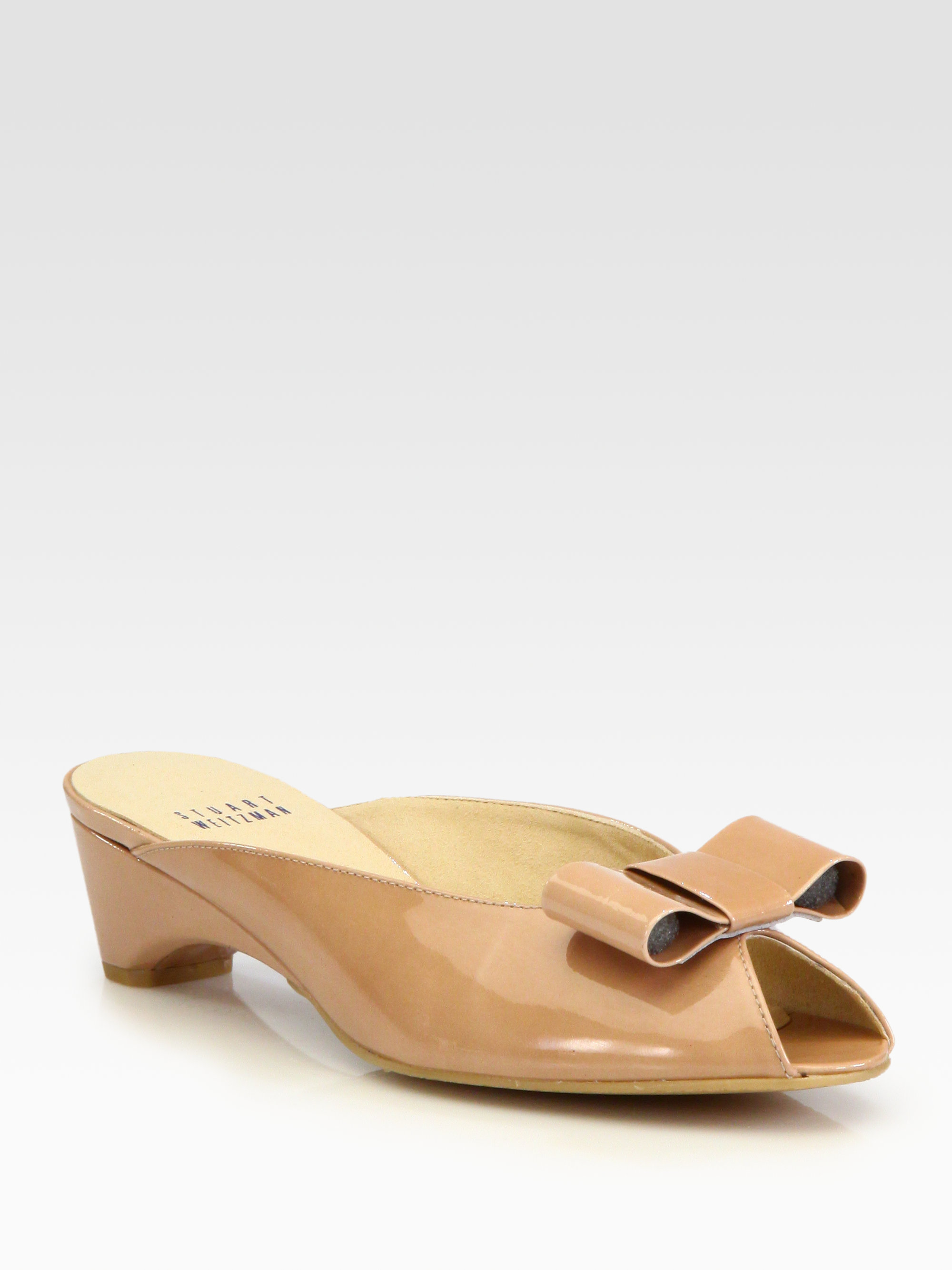 Lyst Stuart Weitzman Candy Patent Leather Bow Pumps In