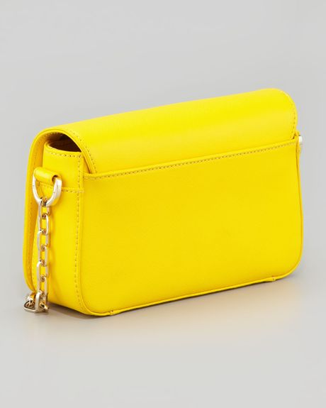 Mini Daisy Double Flap Leather Across Body Bag