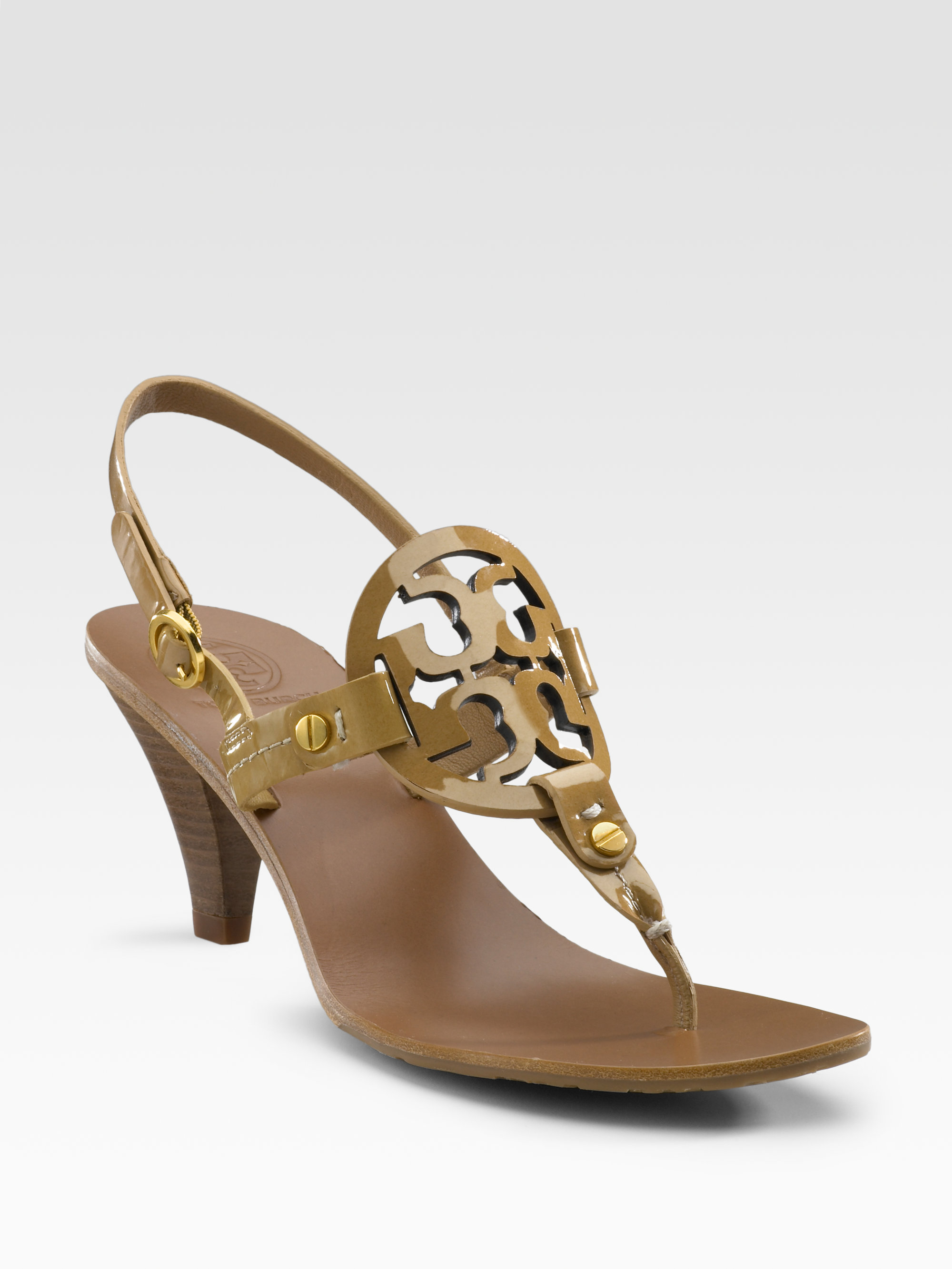 Tory Burch Logo Slingback Sandals pay with visa for sale clearance cheap online latest collections for sale wide range of sale online discount clearance store FfTJMsRx