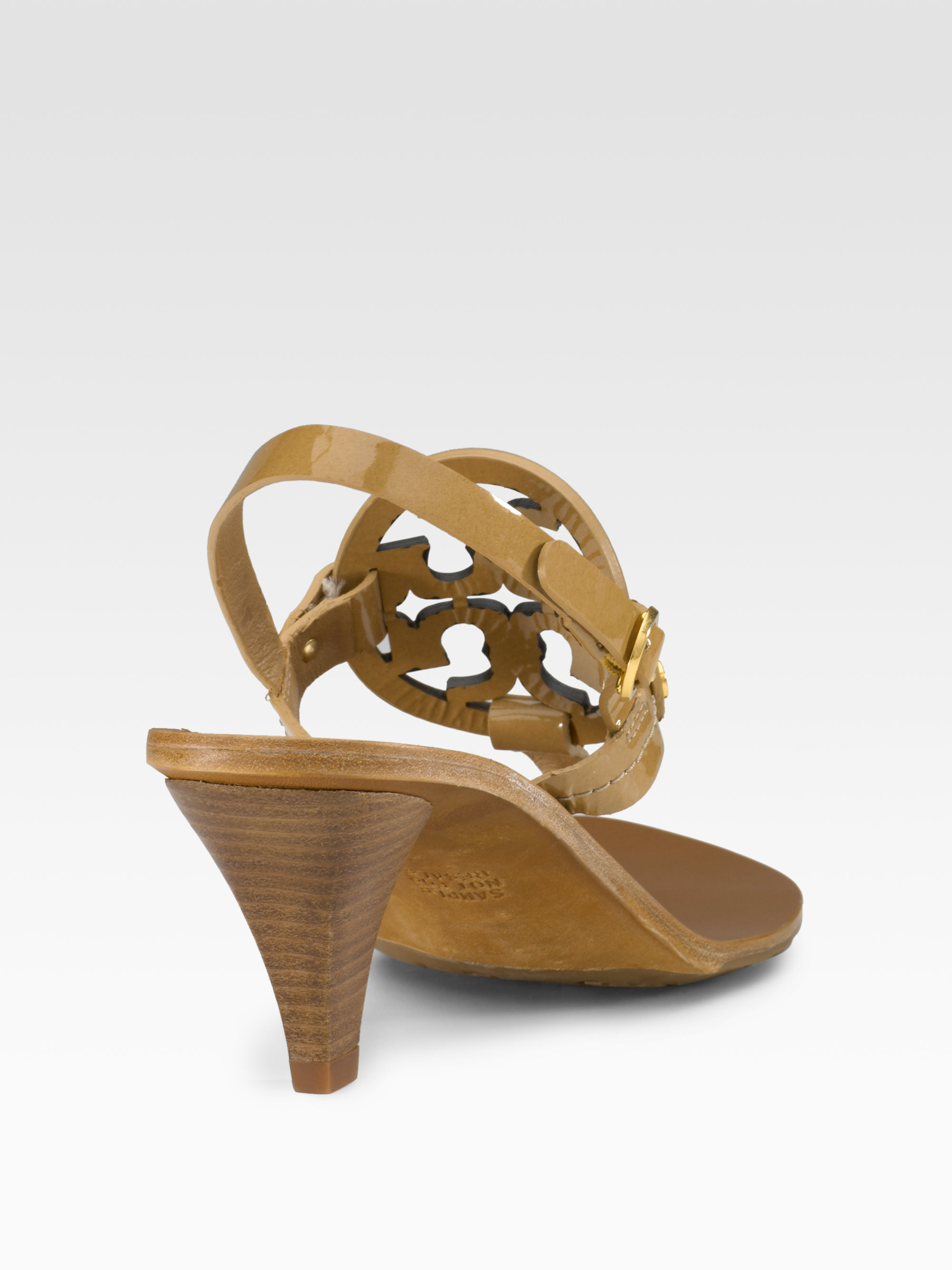 e0f59f2d9d5 Lyst - Tory Burch Holly Logo Sandals in Brown