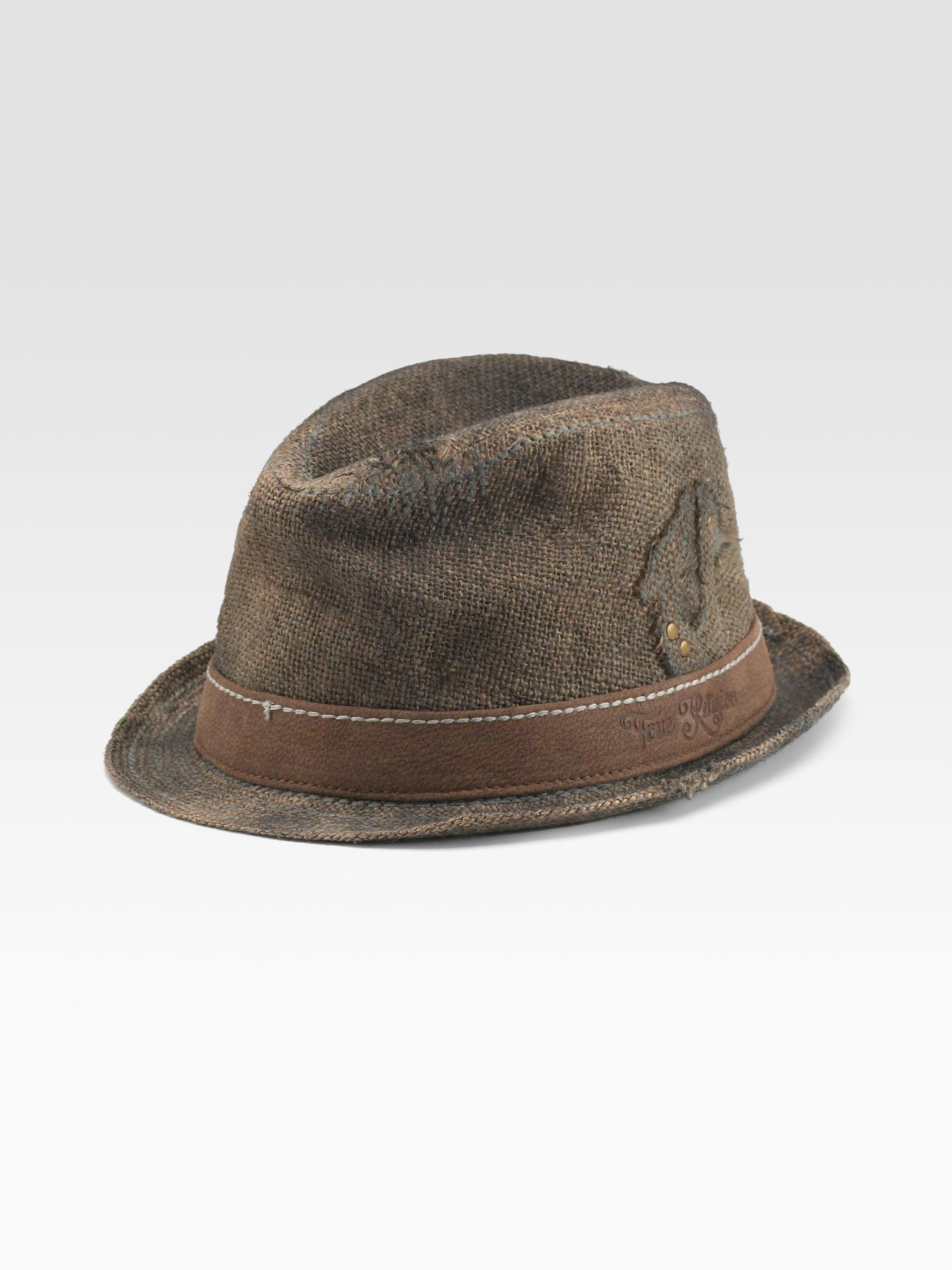 Lyst True Religion Jute Trilby Hat In Brown For Men