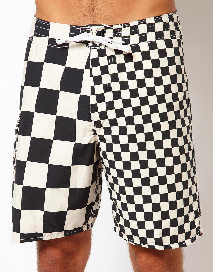 aa1d4d834c Vans Checker Boardshort 20 in Black for Men - Lyst