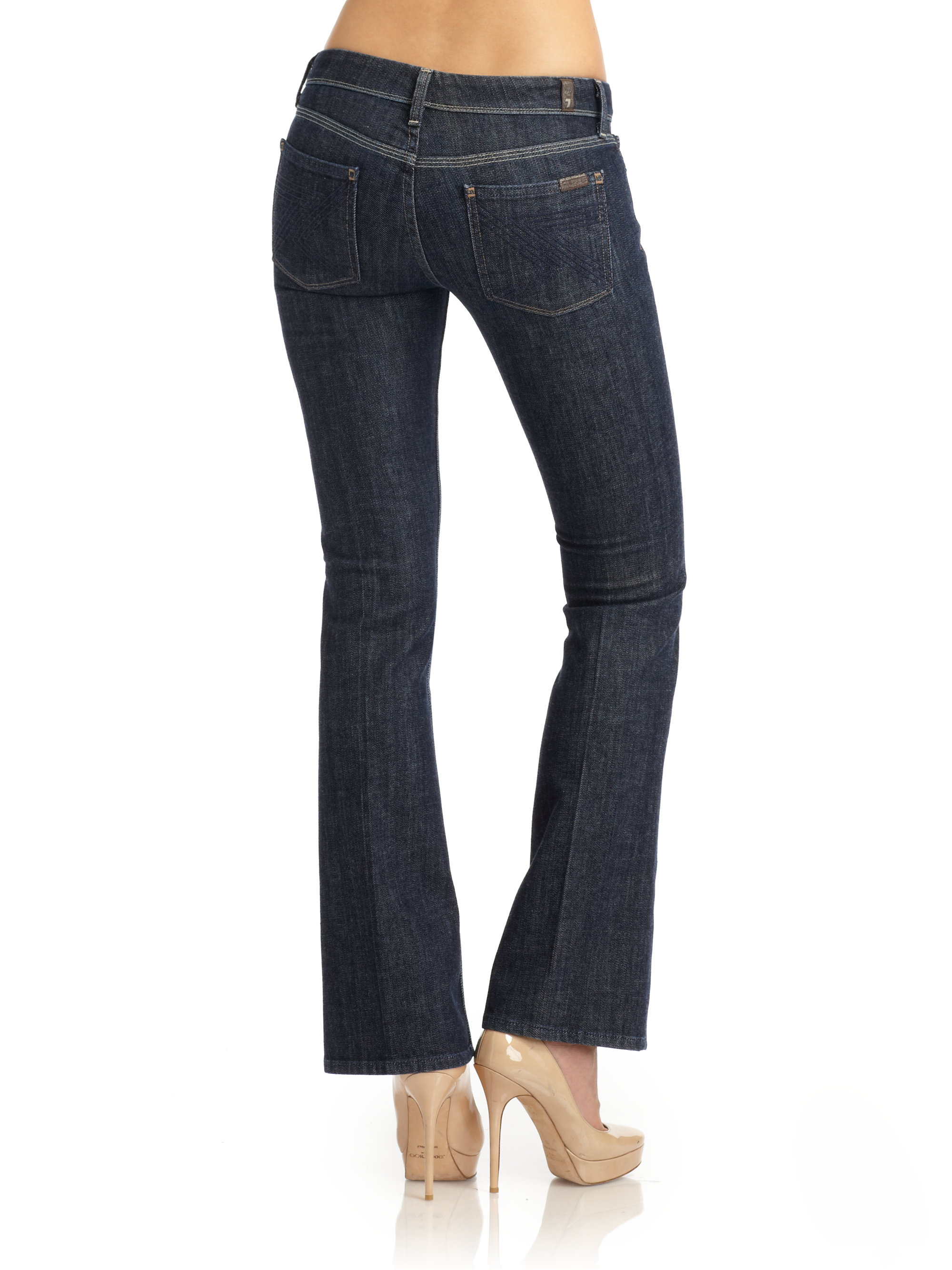 7 for all mankind Flynt Bootcut Jeans in Blue | Lyst