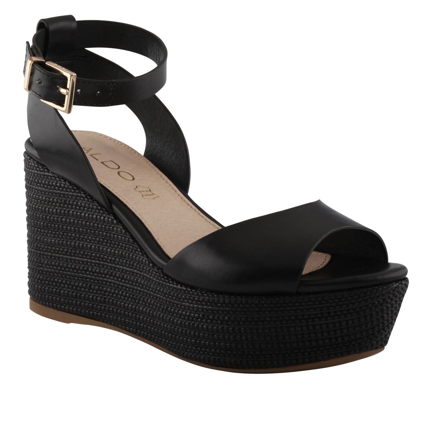 1ba6ad1f04e0 Lyst - ALDO Taipa Wedge Sandals in Black