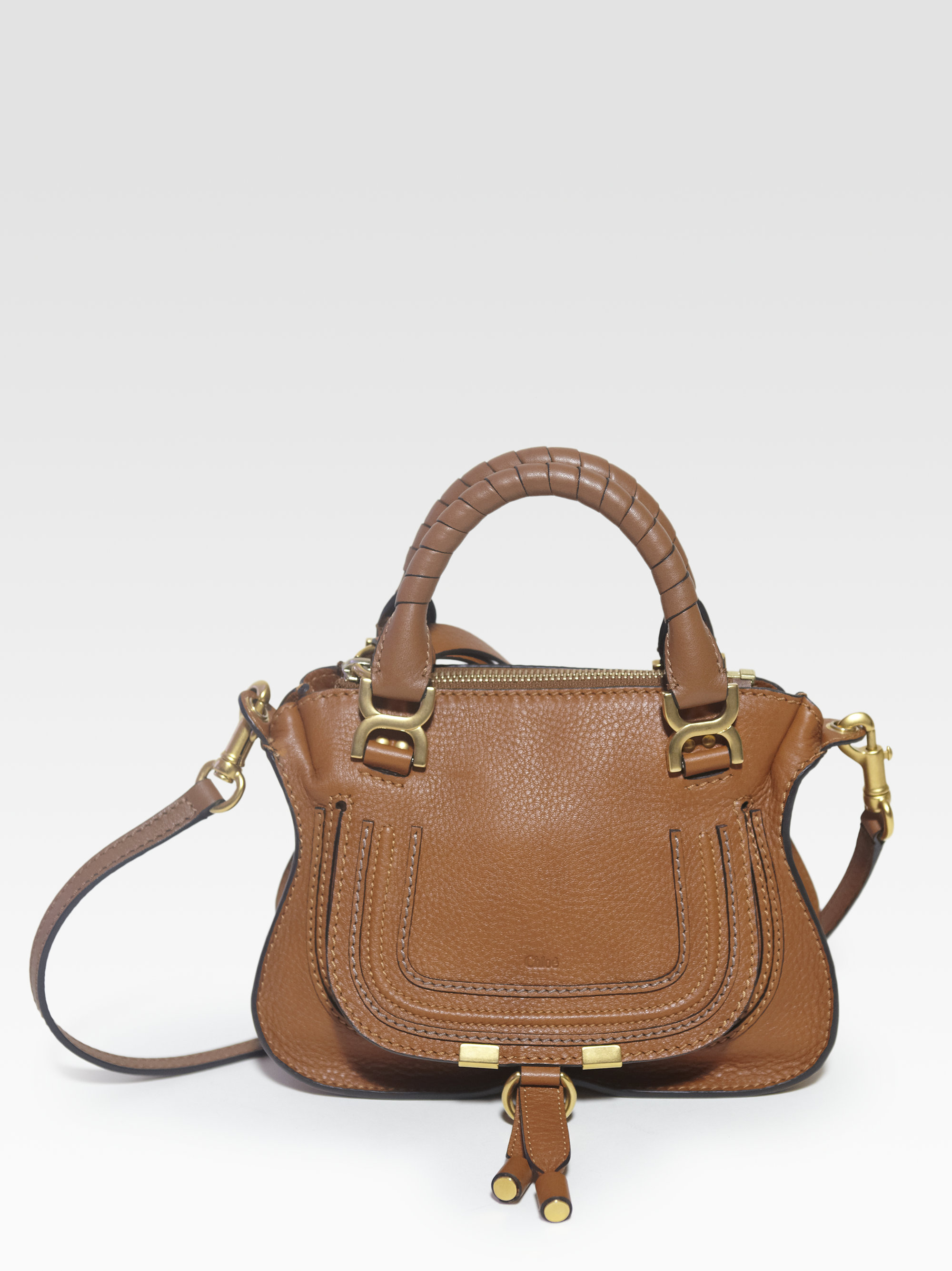 chlo marcie mini crossbody bag in brown lyst. Black Bedroom Furniture Sets. Home Design Ideas