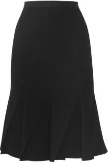 Donna Karan New York Pleated Woolblend Crepe Skirt - Lyst
