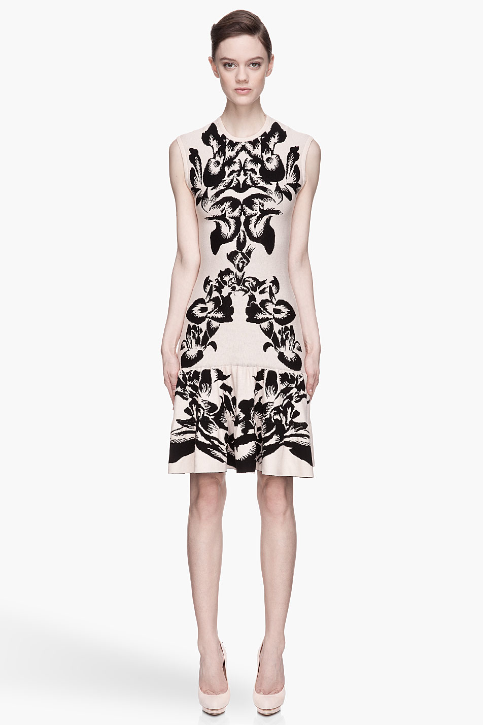 Mcq By Alexander Mcqueen Pale Pink And Black Knit Flirty