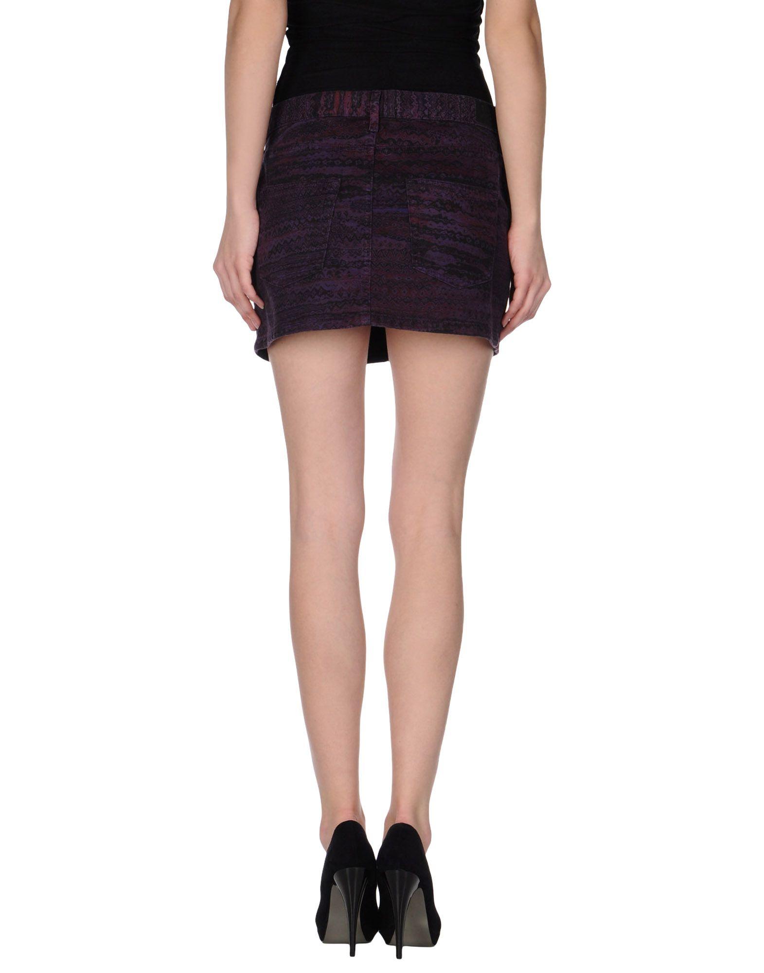 see by chlo 233 denim skirt in purple lyst