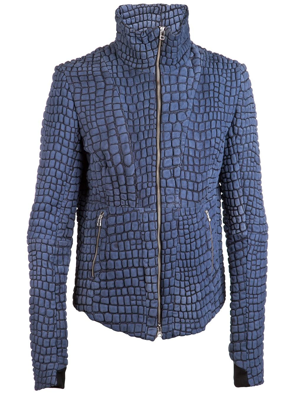 Unconditional Snake Skin Jacket in Blue for Men