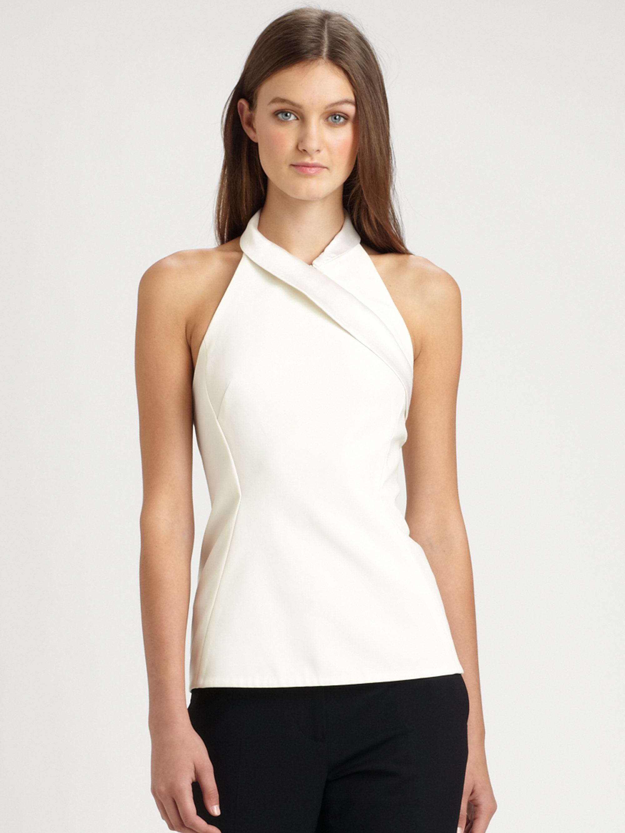 Crop Tops | White Crop Tops, Black Crop Top, Lace, Long ...  |Pvc White Halter Top